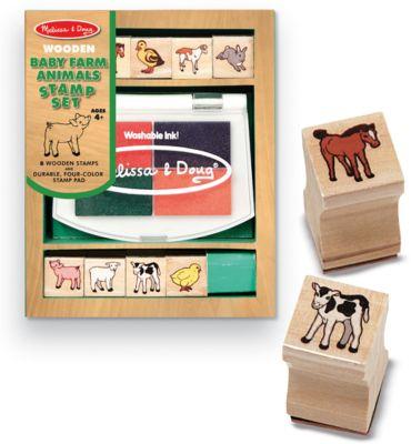 Melissa & Doug Набор печатей Животные на ферме