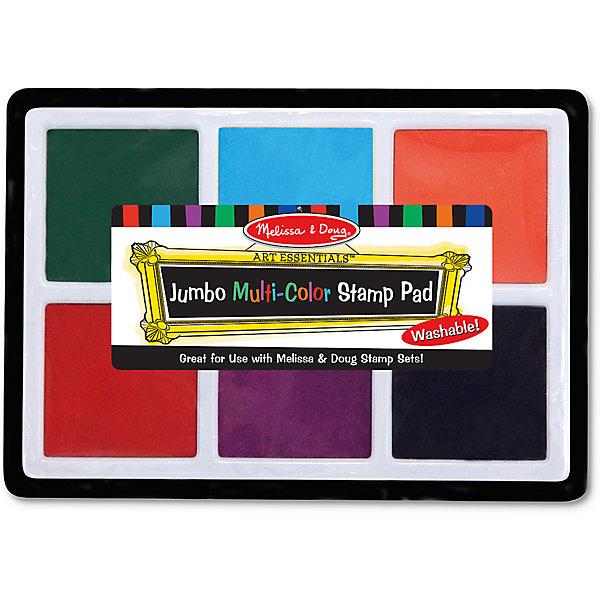 Набор больших цветных печатейДетские трафареты<br>Думаете, как порадовать ребенка? Такой набор печатей - это отличный вариант подарка ребенку, который одновременно и развлечет малыша, и позволит ему развивать важные навыки. Игра с печатями способствует развитию у малышей мелкой моторики, цветовосприятия, художественного вкуса, внимания и воображения. <br>В набор входит 6 разных цветов нетоксичных чернил. Набор отличается удобной упаковкой, простотой использования и отличным качеством исполнения. <br><br>Дополнительная информация:<br><br>комплектация: чернила 6 цветов;<br>для печатей.<br><br>Набор больших цветных печатей от бренда Melissa&amp;Doug можно купить в нашем магазине.<br><br>Ширина мм: 310<br>Глубина мм: 10<br>Высота мм: 220<br>Вес г: 227<br>Возраст от месяцев: 36<br>Возраст до месяцев: 192<br>Пол: Унисекс<br>Возраст: Детский<br>SKU: 4993633