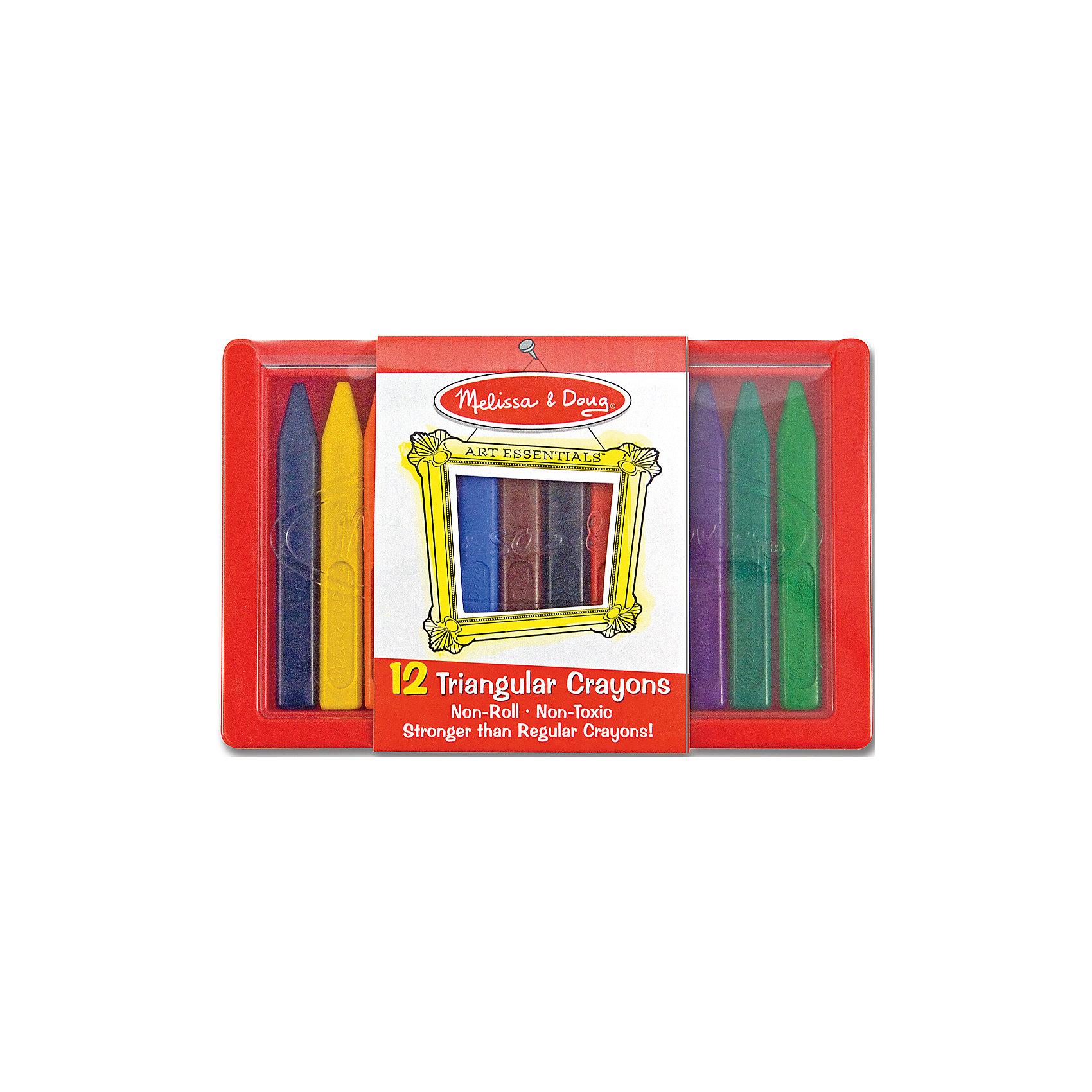 Melissa & Doug Набор восковых мелков 12 шт. наборы для рисования avenir набор для рисования