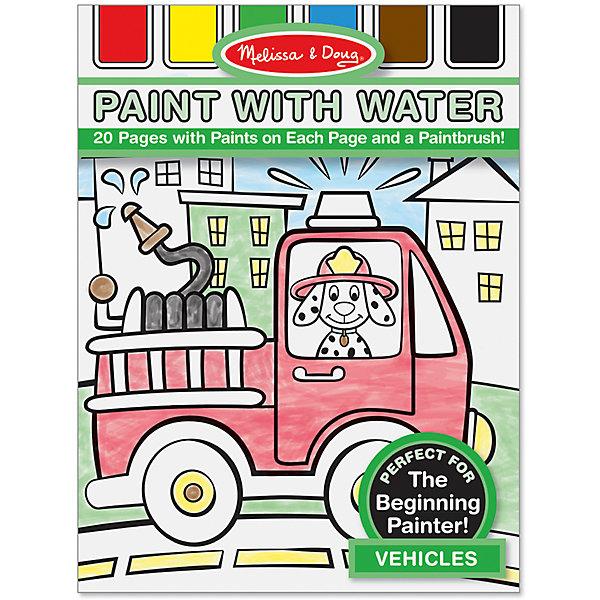 Набор Рисуем водой: ТранспортВодные раскраски<br>Думаете, как порадовать ребенка? Такой набор для рисования водой - это отличный вариант подарка ребенку, который одновременно и развлечет малыша, и позволит ему развивать важные навыки. Такой вариант раскрашивания способствует развитию у малышей мелкой моторики, цветовосприятия, художественного вкуса, внимания и воображения. <br>Набор состоит из черно-белых рисунков, по которым достаточно провести мокрой кистью, чтобы они стали цветными. Но делать это нужно аккуратно. Набор отличается удобной упаковкой, простотой использования и отличным качеством исполнения. <br><br>Дополнительная информация:<br><br>комплектация: 20 страниц, кисточка;<br>размер: 290 х 210 х 10 мм;<br>материал: картон.<br><br>Набор Рисуем водой: Транспорт от бренда Melissa&amp;Doug можно купить в нашем магазине.<br>Ширина мм: 210; Глубина мм: 10; Высота мм: 290; Вес г: 181; Возраст от месяцев: 60; Возраст до месяцев: 72; Пол: Мужской; Возраст: Детский; SKU: 4993650;
