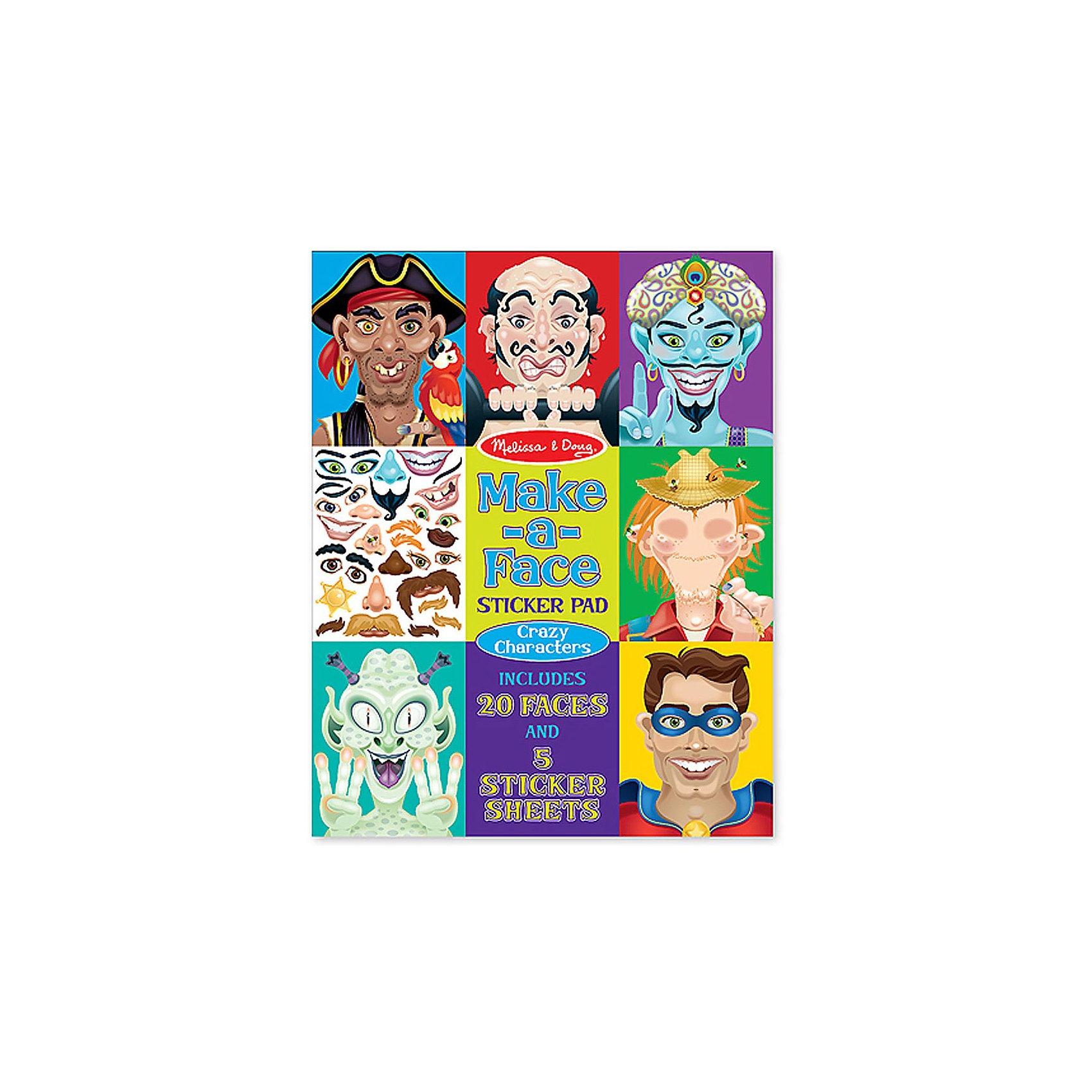 Набор стикеров Лица - Безумные героиДумаете, как порадовать ребенка? Такой набор - это отличный вариант подарка ребенку, который одновременно и развлечет малыша, и позволит ему развивать важные навыки. Это способствует развитию у малышей мелкой моторики, цветовосприятия, художественного вкуса, внимания и воображения. <br>Набор состоит из листов с заготовками, из которых можно создать портрет помощью наклеек. Это очень увлекательно! Набор отличается простотой использования и отличным качеством исполнения. <br><br>Дополнительная информация:<br><br>комплектация: пять листов с 160 наклейками, двадцать заготовок;<br>материал: бумага;<br>размер упаковки: 360 х 280 х 10 мм.<br><br>Набор стикеров Лица - Безумные герои от бренда Melissa&amp;Doug можно купить в нашем магазине.<br><br>Ширина мм: 280<br>Глубина мм: 10<br>Высота мм: 360<br>Вес г: 408<br>Возраст от месяцев: 48<br>Возраст до месяцев: 96<br>Пол: Унисекс<br>Возраст: Детский<br>SKU: 4993666