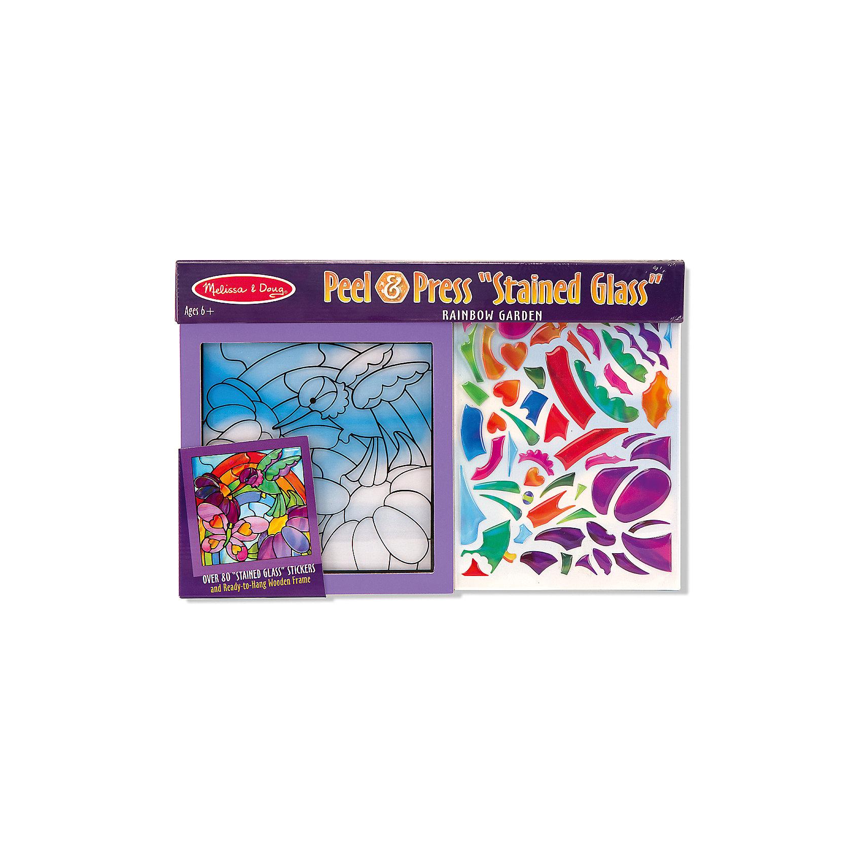 Мозаика-витраж Радуга в садуДумаете, как порадовать ребенка? Такая витражная мозаика - это отличный вариант подарка ребенку, который одновременно и развлечет малыша, и позволит ему развивать важные навыки. Это способствует развитию у малышей мелкой моторики, цветовосприятия, художественного вкуса, внимания и воображения. <br>Набор состоит из фоновой картинки, которую нужно заполнить прозрачными деталями, чтобы получилось изображение. Его потом можно повесить на окно! Особенно понравится девочкам. Набор отличается удобной упаковкой, простотой использования и отличным качеством исполнения. <br><br>Дополнительная информация:<br><br>комплектация: фоновая картинка, детали;<br>размер: 250 х 370 х 10 мм.<br><br>Мозаику-витраж Радуга в саду от бренда Melissa&amp;Doug можно купить в нашем магазине.<br><br>Ширина мм: 370<br>Глубина мм: 10<br>Высота мм: 250<br>Вес г: 272<br>Возраст от месяцев: 72<br>Возраст до месяцев: 144<br>Пол: Унисекс<br>Возраст: Детский<br>SKU: 4993669