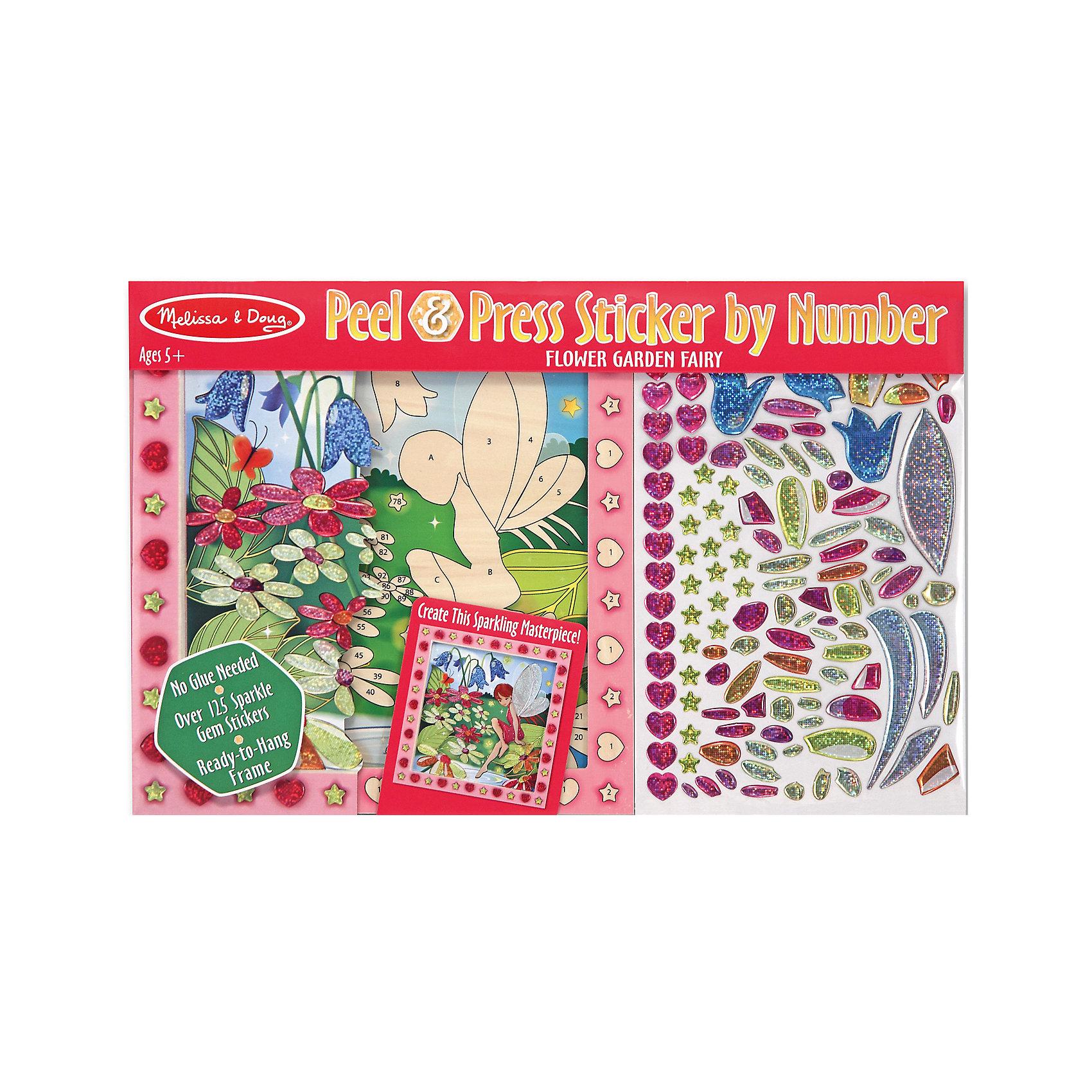 Мозаика Цветочный садДумаете, как порадовать ребенка? Такая мозаика - это отличный вариант подарка ребенку, который одновременно и развлечет малыша, и позволит ему развивать важные навыки. Это способствует развитию у малышей мелкой моторики, цветовосприятия, художественного вкуса, внимания и воображения. <br>Набор состоит из фоновой картинки, которую нужно заполнить наклейками-деталями, чтобы получилось изображение. Его потом можно повесить в комнате! Особенно понравится девочкам. Набор отличается удобной упаковкой, простотой использования и отличным качеством исполнения. <br><br>Дополнительная информация:<br><br>комплектация: фоновая картинка, детали;<br>размер: 270 х 420 х 10 мм.<br><br>Мозаику Цветочный сад от бренда Melissa&amp;Doug можно купить в нашем магазине.<br><br>Ширина мм: 420<br>Глубина мм: 10<br>Высота мм: 270<br>Вес г: 431<br>Возраст от месяцев: 60<br>Возраст до месяцев: 96<br>Пол: Унисекс<br>Возраст: Детский<br>SKU: 4993671