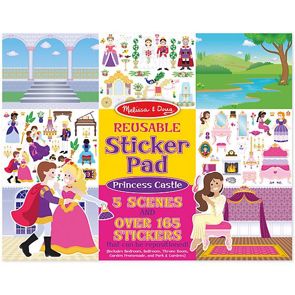 Книжка с многоразовыми наклейками ПринцессыКнижки с наклейками<br>Думаете, как порадовать ребенка? Такой набор - это отличный вариант подарка ребенку, который одновременно и развлечет малыша, и позволит ему развивать важные навыки. Это способствует развитию у малышей мелкой моторики, цветовосприятия, художественного вкуса, внимания и воображения. <br>Набор состоит из листов с заготовками, которые можно заполнять волшебными деталями с помощью наклеек. Это очень увлекательно! Набор отличается простотой использования и отличным качеством исполнения. <br><br>Дополнительная информация:<br><br>комплектация: пять листов, 200 наклеек;<br>материал: бумага;<br>размер упаковки: 360 х 280 х 10 мм.<br><br>Набор со стикерами и фоном Принцессы от бренда Melissa&amp;Doug можно купить в нашем магазине.<br>Ширина мм: 360; Глубина мм: 10; Высота мм: 280; Вес г: 386; Возраст от месяцев: 36; Возраст до месяцев: 84; Пол: Женский; Возраст: Детский; SKU: 4993672;