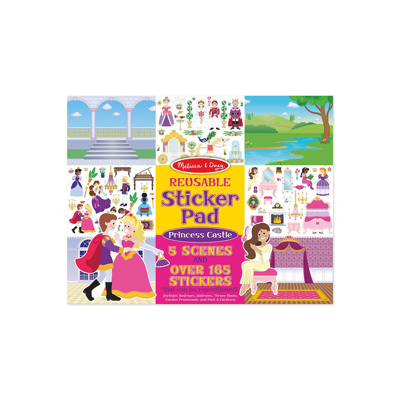 Книжка с многоразовыми наклейками ПринцессыКнижки с наклейками<br>Думаете, как порадовать ребенка? Такой набор - это отличный вариант подарка ребенку, который одновременно и развлечет малыша, и позволит ему развивать важные навыки. Это способствует развитию у малышей мелкой моторики, цветовосприятия, художественного вкуса, внимания и воображения. <br>Набор состоит из листов с заготовками, которые можно заполнять волшебными деталями с помощью наклеек. Это очень увлекательно! Набор отличается простотой использования и отличным качеством исполнения. <br><br>Дополнительная информация:<br><br>комплектация: пять листов, 200 наклеек;<br>материал: бумага;<br>размер упаковки: 360 х 280 х 10 мм.<br><br>Набор со стикерами и фоном Принцессы от бренда Melissa&amp;Doug можно купить в нашем магазине.<br><br>Ширина мм: 360<br>Глубина мм: 10<br>Высота мм: 280<br>Вес г: 386<br>Возраст от месяцев: 36<br>Возраст до месяцев: 84<br>Пол: Женский<br>Возраст: Детский<br>SKU: 4993672