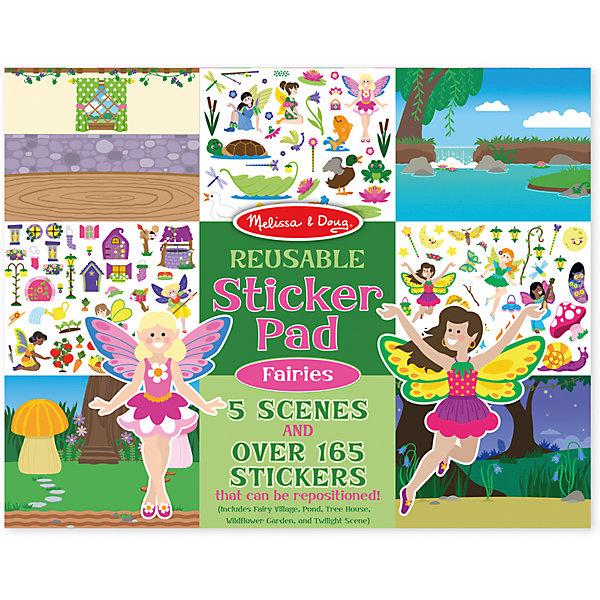 Книжка с многоразовыми наклейками ФеиКнижки с наклейками<br>Думаете, как порадовать ребенка? Такой набор - это отличный вариант подарка ребенку, который одновременно и развлечет малыша, и позволит ему развивать важные навыки. Это способствует развитию у малышей мелкой моторики, цветовосприятия, художественного вкуса, внимания и воображения. <br>Набор состоит из листов с заготовками, которые можно заполнять волшебными деталями с помощью наклеек. Это очень увлекательно! Набор отличается простотой использования и отличным качеством исполнения. <br><br>Дополнительная информация:<br><br>комплектация: пять листов, 200 наклеек;<br>материал: бумага;<br>размер упаковки: 360 х 280 х 10 мм.<br><br>Набор со стикерами и фоном Феи от бренда Melissa&amp;Doug можно купить в нашем магазине.<br>Ширина мм: 360; Глубина мм: 10; Высота мм: 280; Вес г: 386; Возраст от месяцев: 36; Возраст до месяцев: 84; Пол: Женский; Возраст: Детский; SKU: 4993684;