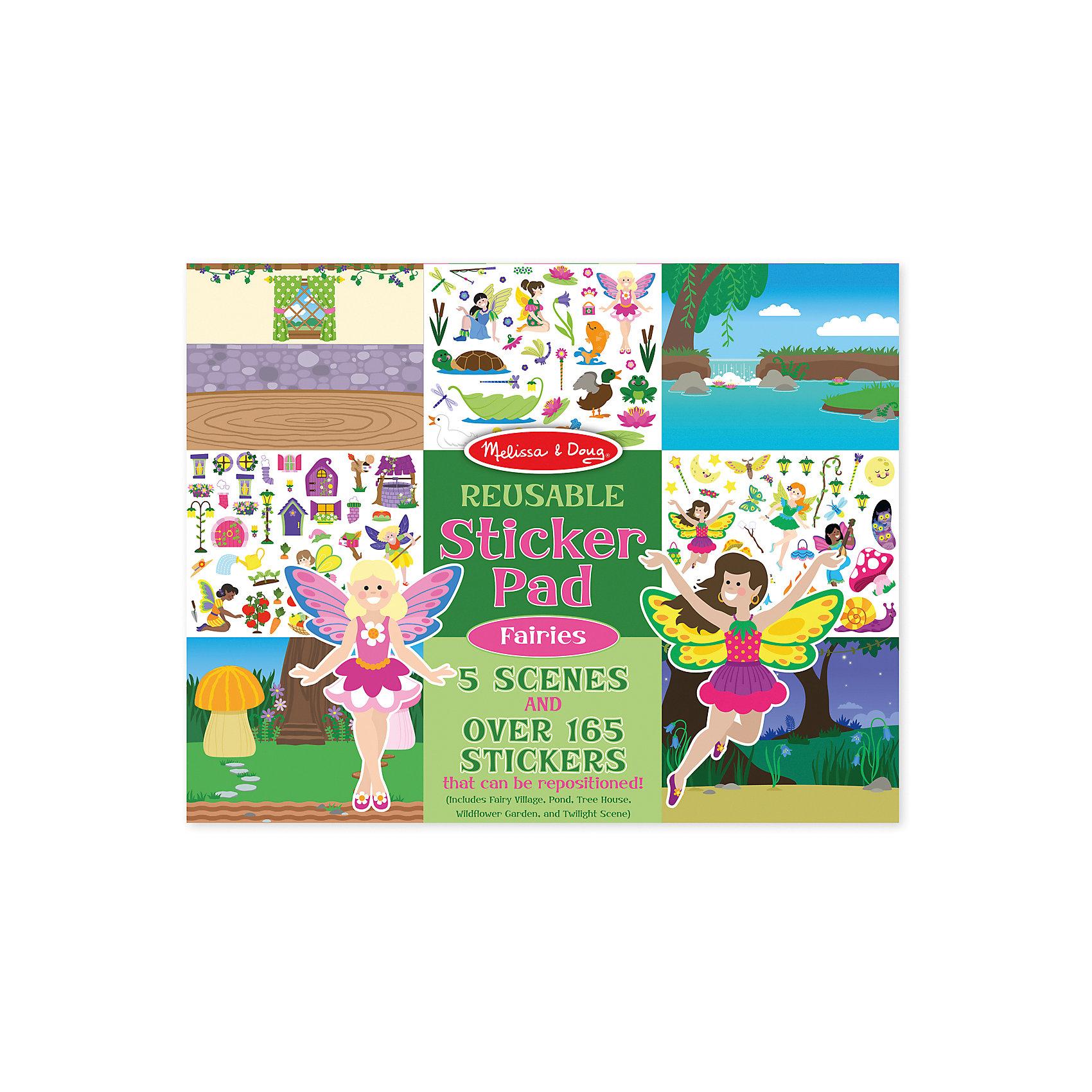 Книжка с многоразовыми наклейками ФеиКнижки с наклейками<br>Думаете, как порадовать ребенка? Такой набор - это отличный вариант подарка ребенку, который одновременно и развлечет малыша, и позволит ему развивать важные навыки. Это способствует развитию у малышей мелкой моторики, цветовосприятия, художественного вкуса, внимания и воображения. <br>Набор состоит из листов с заготовками, которые можно заполнять волшебными деталями с помощью наклеек. Это очень увлекательно! Набор отличается простотой использования и отличным качеством исполнения. <br><br>Дополнительная информация:<br><br>комплектация: пять листов, 200 наклеек;<br>материал: бумага;<br>размер упаковки: 360 х 280 х 10 мм.<br><br>Набор со стикерами и фоном Феи от бренда Melissa&amp;Doug можно купить в нашем магазине.<br><br>Ширина мм: 360<br>Глубина мм: 10<br>Высота мм: 280<br>Вес г: 386<br>Возраст от месяцев: 36<br>Возраст до месяцев: 84<br>Пол: Женский<br>Возраст: Детский<br>SKU: 4993684