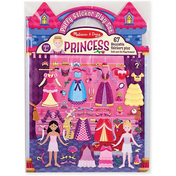 Книжка с многоразовыми наклейками ПринцессыКнижки с наклейками<br>Думаете, как порадовать ребенка? Такой набор - это отличный вариант подарка ребенку, который одновременно и развлечет малыша, и позволит ему развивать важные навыки. Это способствует развитию у малышей мелкой моторики, цветовосприятия, художественного вкуса, внимания и воображения. <br>Набор состоит из листов с заготовками, которые можно заполнять: одевать принцесс в наряды с помощью наклеек. Это очень увлекательно! Набор отличается простотой использования и отличным качеством исполнения. <br><br>Дополнительная информация:<br><br>комплектация: книжка с фоном, 67 наклеек;<br>материал: бумага;<br>размер упаковки: 220 х 290 х 10 мм.<br><br>Набор со стикерами и фоном Принцессы от бренда Melissa&amp;Doug можно купить в нашем магазине.<br>Ширина мм: 220; Глубина мм: 10; Высота мм: 290; Вес г: 91; Возраст от месяцев: 48; Возраст до месяцев: 84; Пол: Женский; Возраст: Детский; SKU: 4993699;