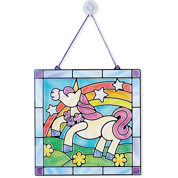 Витраж ЕдинорогДетские витражи<br>Думаете, как порадовать ребенка? Такая витражная мозаика - это отличный вариант подарка ребенку, который одновременно и развлечет малыша, и позволит ему развивать важные навыки. Это способствует развитию у малышей мелкой моторики, цветовосприятия, художественного вкуса, внимания и воображения. <br>Набор состоит из фоновой картинки, которую нужно заполнить прозрачными деталями, чтобы получилось изображение. Его потом можно повесить на окно! Особенно понравится девочкам. Набор отличается удобной упаковкой, простотой использования и отличным качеством исполнения. <br><br>Дополнительная информация:<br><br>комплектация: фоновая картинка, детали;<br>размер: 250 х 370 х 10 мм.<br><br>Витраж Единорог от бренда Melissa&amp;Doug можно купить в нашем магазине.<br><br>Ширина мм: 240<br>Глубина мм: 10<br>Высота мм: 260<br>Вес г: 250<br>Возраст от месяцев: 60<br>Возраст до месяцев: 120<br>Пол: Женский<br>Возраст: Детский<br>SKU: 4993704