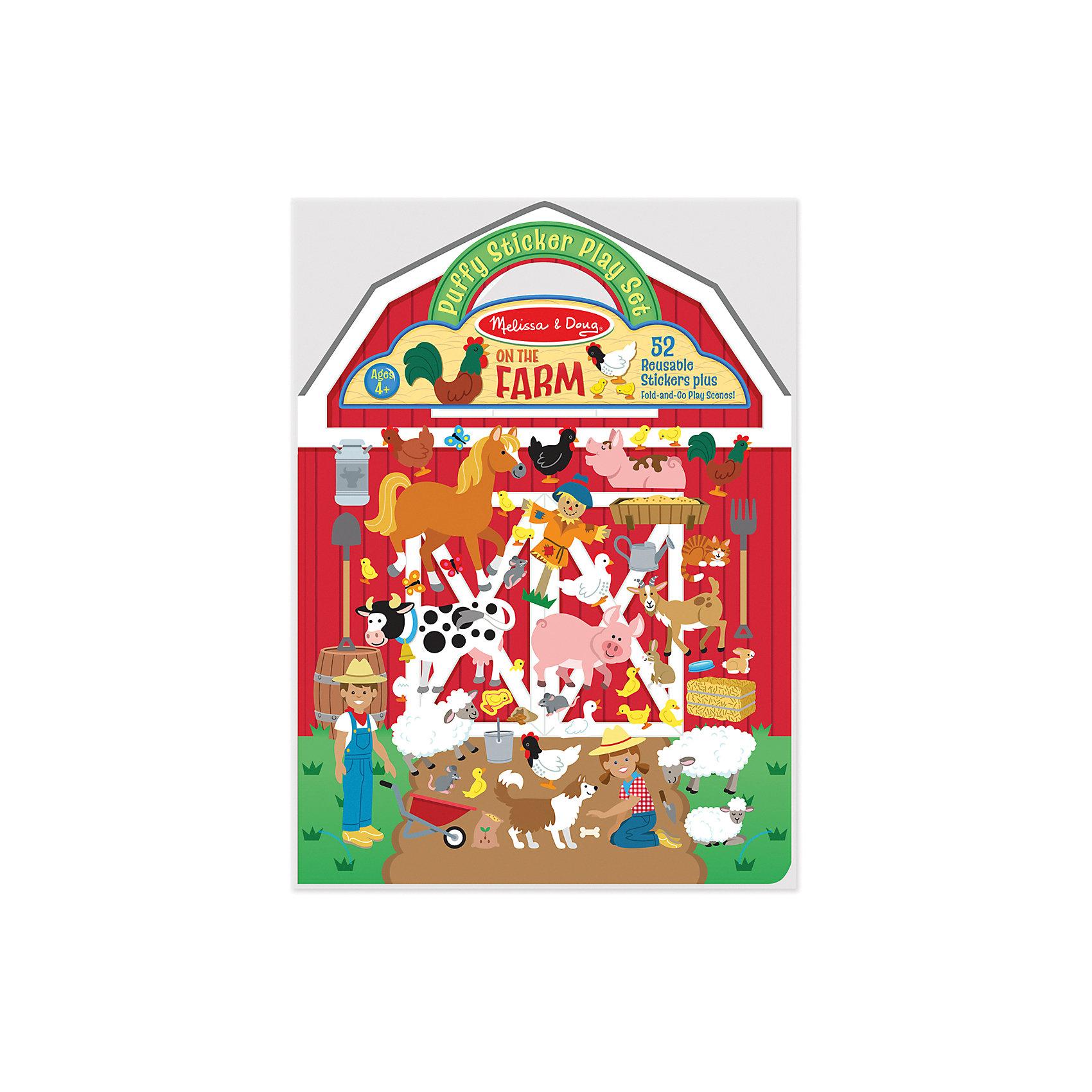 Книжка с многоразовыми наклейками ФермаТворчество для малышей<br>Такой набор - это отличный вариант подарка ребенку, который одновременно и развлечет малыша, и позволит ему развивать важные навыки. Это способствует развитию у малышей мелкой моторики, цветовосприятия, художественного вкуса, внимания и воображения. <br>Набор состоит из листов с заготовками, которые можно заполнять: оживлять ферму с помощью наклеек. Это очень увлекательно! Набор отличается простотой использования и отличным качеством исполнения. <br><br>Дополнительная информация:<br><br>комплектация: книжка, 52 наклейки;<br>материал: бумага;<br>размер упаковки: 220 х 280 х 10 мм.<br><br>Набор стикеров Ферма от бренда Melissa&amp;Doug можно купить в нашем магазине.<br><br>Ширина мм: 210<br>Глубина мм: 10<br>Высота мм: 300<br>Вес г: 91<br>Возраст от месяцев: 48<br>Возраст до месяцев: 84<br>Пол: Унисекс<br>Возраст: Детский<br>SKU: 4993708