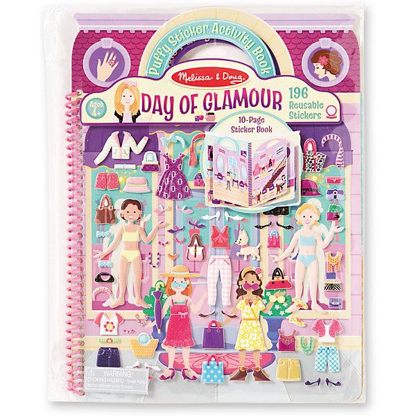 Делюкс-книжка с многоразовыми наклейками День гламураКнижки с наклейками<br>Такой набор - это отличный вариант подарка ребенку, который одновременно и развлечет малыша, и позволит ему развивать важные навыки. Это способствует развитию у малышей мелкой моторики, цветовосприятия, художественного вкуса, внимания и воображения. <br>Набор состоит из листов с заготовками, которые можно заполнять: оживлять разные сцены с помощью наклеек. Это очень увлекательно! Набор отличается простотой использования и отличным качеством исполнения. <br><br>Дополнительная информация:<br><br>комплектация: 10 заготовок с фоном, 196 наклеек;<br>материал: бумага.<br><br>Набор делюкс со стикерами День гламура от бренда Melissa&amp;Doug можно купить в нашем магазине.<br><br>Ширина мм: 230<br>Глубина мм: 10<br>Высота мм: 290<br>Вес г: 159<br>Возраст от месяцев: 48<br>Возраст до месяцев: 108<br>Пол: Женский<br>Возраст: Детский<br>SKU: 4993710
