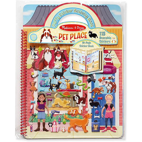 Книжка с многоразовыми наклейками  ЖивотныеКнижки с наклейками<br>Игра с наклейками для ребенка - полезное занятие! Так он развивает свои способности и играет одновременно. Такой набор - это отличный вариант подарка ребенку, который одновременно и развлечет малыша, и позволит ему развивать важные навыки. Это способствует развитию у малышей мелкой моторики, цветовосприятия, художественного вкуса, внимания и воображения. <br>Набор состоит из фона, который можно заполнять: оживлять с помощью наклеек. Это очень увлекательно! Набор отличается простотой использования и отличным качеством исполнения. <br><br>Дополнительная информация:<br><br>комплектация: книжка с фоном, 115 наклеек;<br>материал: бумага.<br><br>Набор стикеров Животные от бренда Melissa&amp;Doug можно купить в нашем магазине.<br>Ширина мм: 220; Глубина мм: 10; Высота мм: 290; Вес г: 159; Возраст от месяцев: 48; Возраст до месяцев: 96; Пол: Унисекс; Возраст: Детский; SKU: 4993714;