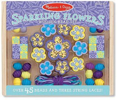 Melissa & Doug Набор бусин Сияющие цветы