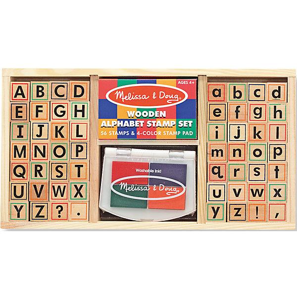 Набор печатей АлфавитДетские печати и штампы<br>Такой набор печатей - это отличный вариант подарка ребенку, который одновременно и развлечет малыша, и позволит ему развивать важные навыки. Игра с печатями способствует развитию у малышей мелкой моторики, цветовосприятия, художественного вкуса, внимания и воображения. <br>В набор входит нетоксичная штемпельная подушечка и печати с 56 буквами и знаками препинания. Набор отличается удобной упаковкой, простотой использования и отличным качеством исполнения. <br><br>Дополнительная информация:<br><br>комплектация: штемпельная подушка, 56 букв - прописные, строчные и знаки препинания;<br>упаковка: деревянный ящик;<br>материал: дерево.<br><br>Набор печатей Алфавит от бренда Melissa&amp;Doug можно купить в нашем магазине.<br><br>Ширина мм: 310<br>Глубина мм: 40<br>Высота мм: 160<br>Вес г: 794<br>Возраст от месяцев: 48<br>Возраст до месяцев: 192<br>Пол: Унисекс<br>Возраст: Детский<br>SKU: 4993733