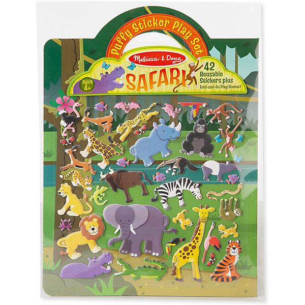 Книжка с многоразовыми наклейками СафариКнижки с наклейками<br>Такой набор - это отличный вариант подарка ребенку, который одновременно и развлечет малыша, и позволит ему развивать важные навыки. Это способствует развитию у малышей мелкой моторики, цветовосприятия, художественного вкуса, внимания и воображения. <br>Набор состоит из листов с заготовками, которые можно заполнять деталями с помощью наклеек. Это очень увлекательно! Набор отличается простотой использования и отличным качеством исполнения. <br><br>Дополнительная информация:<br><br>комплектация: фон, 42 наклейки;<br>материал: бумага.<br><br>Набор стикеров Сафари от бренда Melissa&amp;Doug можно купить в нашем магазине.<br>Ширина мм: 220; Глубина мм: 10; Высота мм: 290; Вес г: 91; Возраст от месяцев: 48; Возраст до месяцев: 108; Пол: Унисекс; Возраст: Детский; SKU: 4993735;