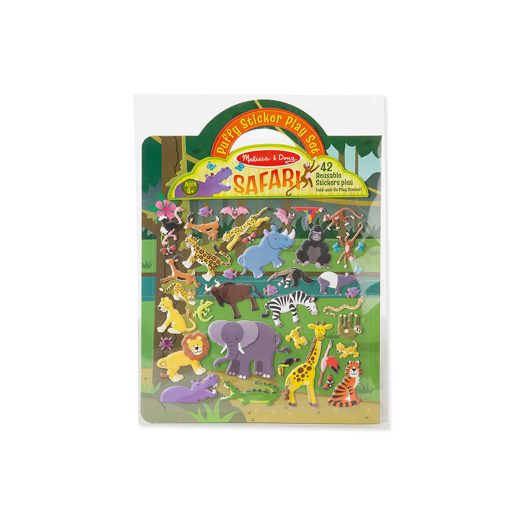 Книжка с многоразовыми наклейками СафариТворчество для малышей<br>Такой набор - это отличный вариант подарка ребенку, который одновременно и развлечет малыша, и позволит ему развивать важные навыки. Это способствует развитию у малышей мелкой моторики, цветовосприятия, художественного вкуса, внимания и воображения. <br>Набор состоит из листов с заготовками, которые можно заполнять деталями с помощью наклеек. Это очень увлекательно! Набор отличается простотой использования и отличным качеством исполнения. <br><br>Дополнительная информация:<br><br>комплектация: фон, 42 наклейки;<br>материал: бумага.<br><br>Набор стикеров Сафари от бренда Melissa&amp;Doug можно купить в нашем магазине.<br><br>Ширина мм: 220<br>Глубина мм: 10<br>Высота мм: 290<br>Вес г: 91<br>Возраст от месяцев: 48<br>Возраст до месяцев: 108<br>Пол: Унисекс<br>Возраст: Детский<br>SKU: 4993735