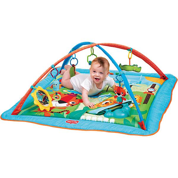 Коврик Tiny Love СафариРазвивающие коврики<br>(518) Коврик Сафари.<br>- 5 подвесных игрушек<br>- безопасное зеркало<br>- интерактивная музыкальная панель<br>- скользящие кольца позволяют менять расположение игрушек и разнообразить игру<br>- открывающие мягкие борта, увеличивающие размер коврика<br>Ширина мм: 800; Глубина мм: 40; Высота мм: 585; Вес г: 1790; Возраст от месяцев: 0; Возраст до месяцев: 12; Пол: Унисекс; Возраст: Детский; SKU: 4994581;