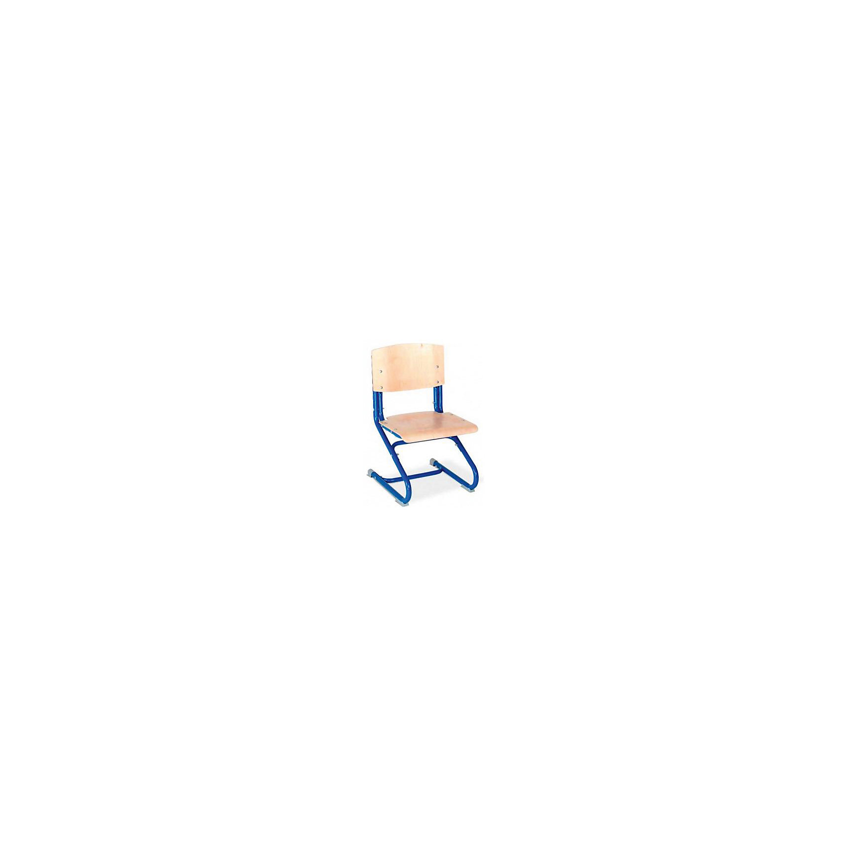 Стул универсальный СУТ.02-01, Дэми, синийУченический стул «Дэми» регулируется по высоте спинки и глубине сиденья. Данные показатели подбираются индивидуально под рост ребенка, чтобы обеспечить правильное положение тела за письменным столом. Правильная осанка и ровная спина – залог здоровья ребенка.<br><br>Дополнительная информация:<br><br>Регулируемая высота стула от пола до сиденья: 34,5-44,5 см<br>Регулируемая высота спинки: 34,5-40,9 см<br>Регулируемая глубина сиденья: 31-33 см<br>Ширина стула (каркас, сиденье и спинка): 40 см<br><br>Каркас стула изготовлен из металла, диаметр трубчатых оснований 2,5 см<br>Спинка и сиденье стула изготовлены из фанеры<br><br>Ростовая группа: 2-6<br>Угол наклона сиденья: 2 градуса.<br>Максимальная нагрузка: 80 кг<br><br>Необходима сборка, стул поставляется в разобранном виде.  <br><br>Стул универсальный СУТ.02-01, Дэми, синий серый можно купить в нашем интернет-магазине.<br><br>Ширина мм: 730<br>Глубина мм: 605<br>Высота мм: 770<br>Вес г: 8000<br>Возраст от месяцев: 36<br>Возраст до месяцев: 84<br>Пол: Унисекс<br>Возраст: Детский<br>SKU: 4995035