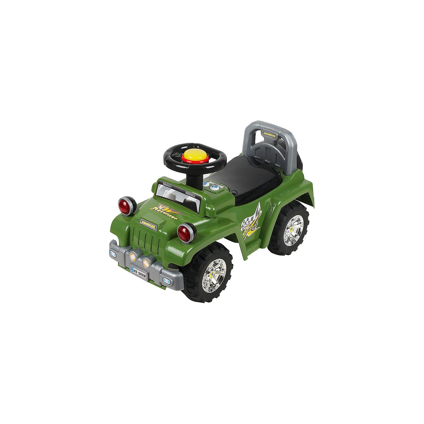 Каталка Джип, зеленый, NINGBO PRINCEКаталка Джип, зеленый, NINGBO PRINCE  - осчастливьте своего ребенка безопасной детской машиной.<br>Благодаря тому, что каталка имеет устойчивую конструкцию и колеса с поворотом на 90 градусов, она полностью безопасна для ребенка, даже если он любит быструю езду.  На руле есть кнопка для звукового сигнала. Ход машины очень плавный, может ездить вперед и назад. Есть вместительный багажник для игрушек или вещей, под сиденьем. Машина сделана под марку «джип».<br><br>Дополнительная информация:<br><br>- размер: 65*28*30 см<br>- вес: 3,7 кг<br>- возраст: от 1 до 3 лет<br>- максимальный вес: до 30 кг<br>- цвет: зеленый<br><br>Каталку Джип, зеленый, NINGBO PRINCE  можно купить в нашем интернет магазине.<br><br>Ширина мм: 900<br>Глубина мм: 900<br>Высота мм: 500<br>Вес г: 3700<br>Возраст от месяцев: 12<br>Возраст до месяцев: 36<br>Пол: Унисекс<br>Возраст: Детский<br>SKU: 4995155