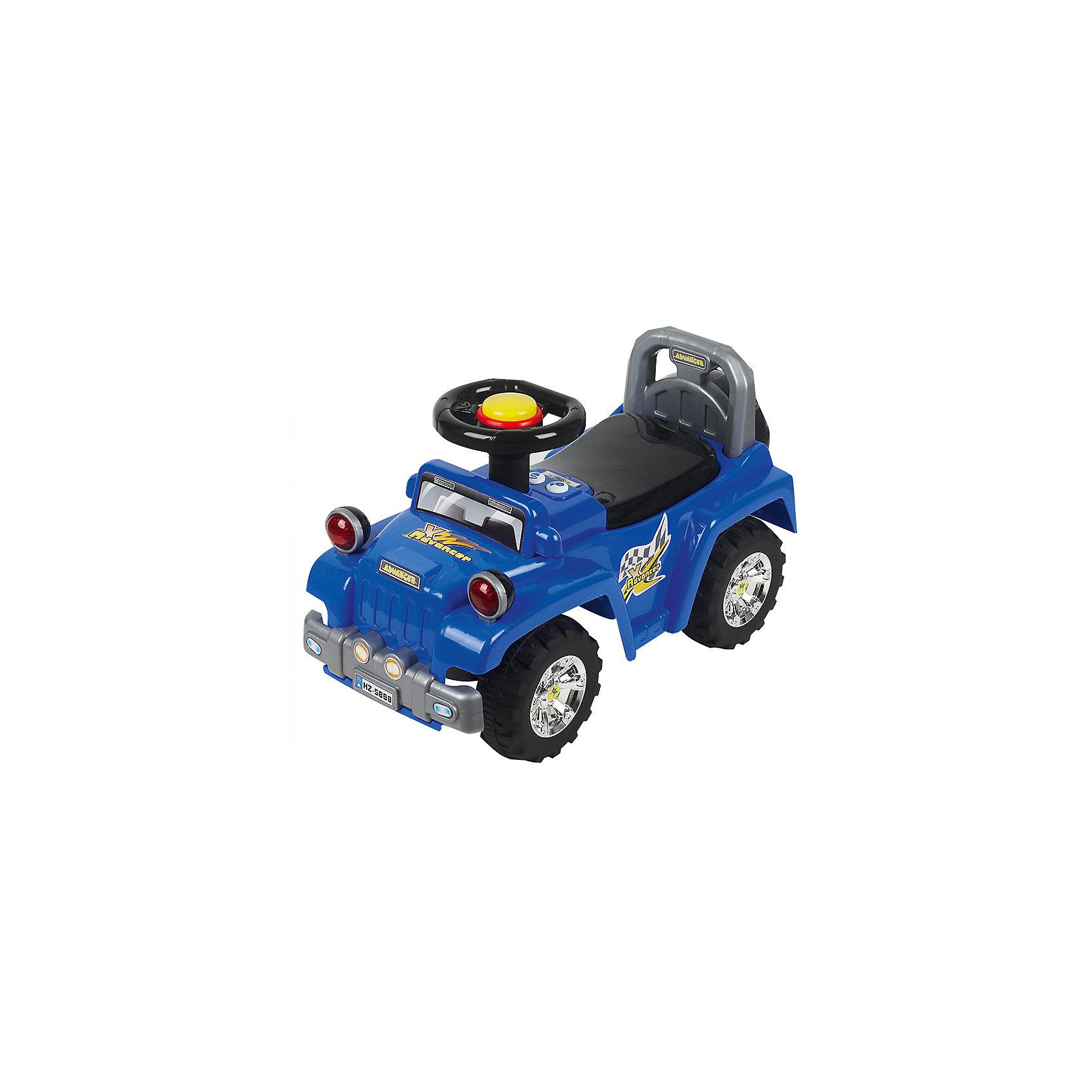 Каталка Джип, синий, NINGBO PRINCEКаталка Джип, синий, NINGBO PRINCE  - осчастливьте своего ребенка безопасной детской машиной.<br>Благодаря тому, что каталка имеет устойчивую конструкцию и колеса с поворотом на 90 градусов, она полностью безопасна для ребенка, даже если он любит быструю езду.  На руле есть кнопка для звукового сигнала. Ход машины очень плавный, может ездить вперед и назад. Есть вместительный багажник для игрушек или вещей, под сиденьем. Машина сделана под марку «джип».<br><br>Дополнительная информация:<br><br>- размер: 65*28*30 см<br>- вес: 3,7 кг<br>- возраст: от 1 до 3 лет<br>- максимальный вес: до 30 кг<br>- цвет: синий<br><br>Каталку Джип, синий, NINGBO PRINCE  можно купить в нашем интернет магазине.<br><br>Ширина мм: 900<br>Глубина мм: 900<br>Высота мм: 500<br>Вес г: 3700<br>Возраст от месяцев: 12<br>Возраст до месяцев: 36<br>Пол: Унисекс<br>Возраст: Детский<br>SKU: 4995157
