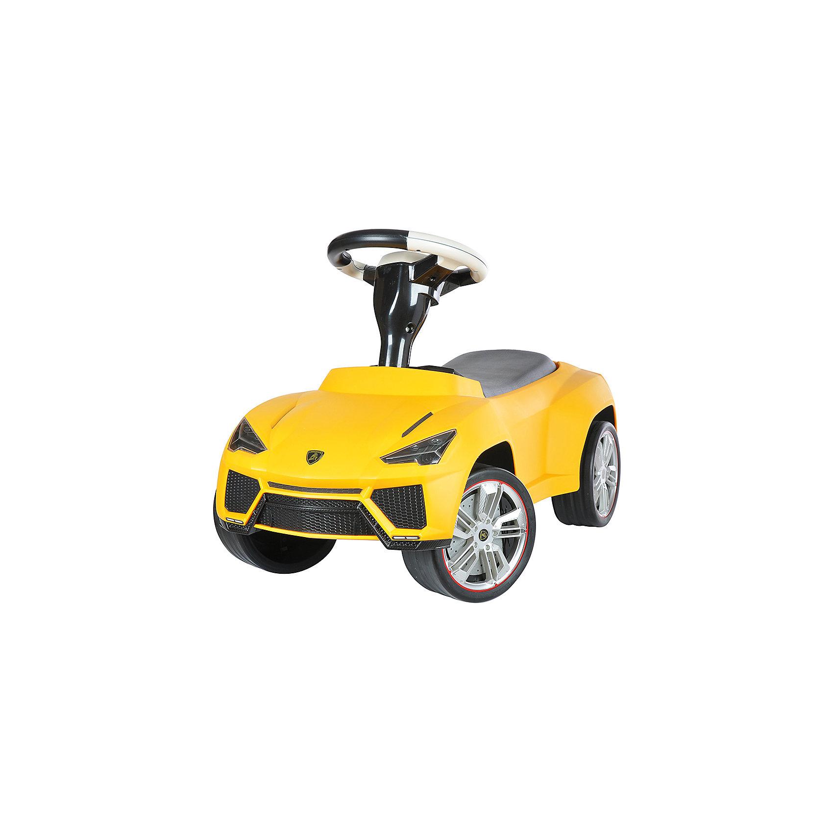 Каталка Lamborghini Urus, желтый, RASTARКаталка Lamborghini Urus, желтый, RASTAR - осчастливьте своего ребенка безопасной детской машиной.<br>Благодаря тому, что каталка имеет устойчивую конструкцию и колеса с поворотом на 90 градусов, она полностью безопасна для ребенка, даже если он любит быструю езду.  На руле есть кнопка для звукового сигнала. Ход машины очень плавный, может ездить вперед и назад. Есть вместительный багажник для игрушек или вещей, под сиденьем. Машина сделана под марку «Lamborghini».<br><br>Дополнительная информация:<br><br>- размер: 70 ? 30 ? 39 см<br>- вес: 2,7 кг<br>- возраст: от 1 до 3 лет<br>- максимальный вес: до 30 кг<br>- цвет: желтый<br><br>Каталку Lamborghini Urus, желтый, RASTAR можно купить в нашем интернет магазине.<br><br>Ширина мм: 650<br>Глубина мм: 350<br>Высота мм: 300<br>Вес г: 3800<br>Возраст от месяцев: 12<br>Возраст до месяцев: 36<br>Пол: Унисекс<br>Возраст: Детский<br>SKU: 4995160