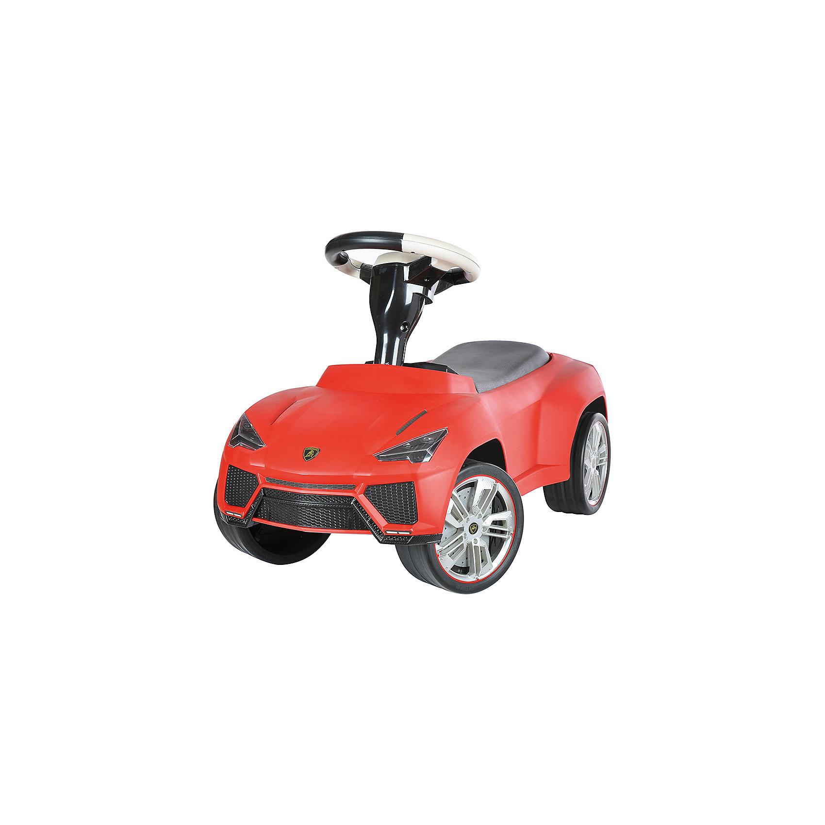 Каталка Lamborghini Urus, красный, RASTARКаталка Lamborghini Urus, красный, RASTAR - осчастливьте своего ребенка безопасной детской машиной.<br>Благодаря тому, что каталка имеет устойчивую конструкцию и колеса с поворотом на 90 градусов, она полностью безопасна для ребенка, даже если он любит быструю езду.  На руле есть кнопка для звукового сигнала. Ход машины очень плавный, может ездить вперед и назад. Есть вместительный багажник для игрушек или вещей, под сиденьем. Машина сделана под марку «Lamborghini».<br><br>Дополнительная информация:<br><br>- размер: 70 ? 30 ? 39 см<br>- вес: 2,7 кг<br>- возраст: от 1 до 3 лет<br>- максимальный вес: до 30 кг<br>- цвет: красный<br><br>Каталку Lamborghini Urus, красный, RASTAR можно купить в нашем интернет магазине.<br><br>Ширина мм: 650<br>Глубина мм: 350<br>Высота мм: 300<br>Вес г: 3800<br>Возраст от месяцев: 12<br>Возраст до месяцев: 36<br>Пол: Унисекс<br>Возраст: Детский<br>SKU: 4995161