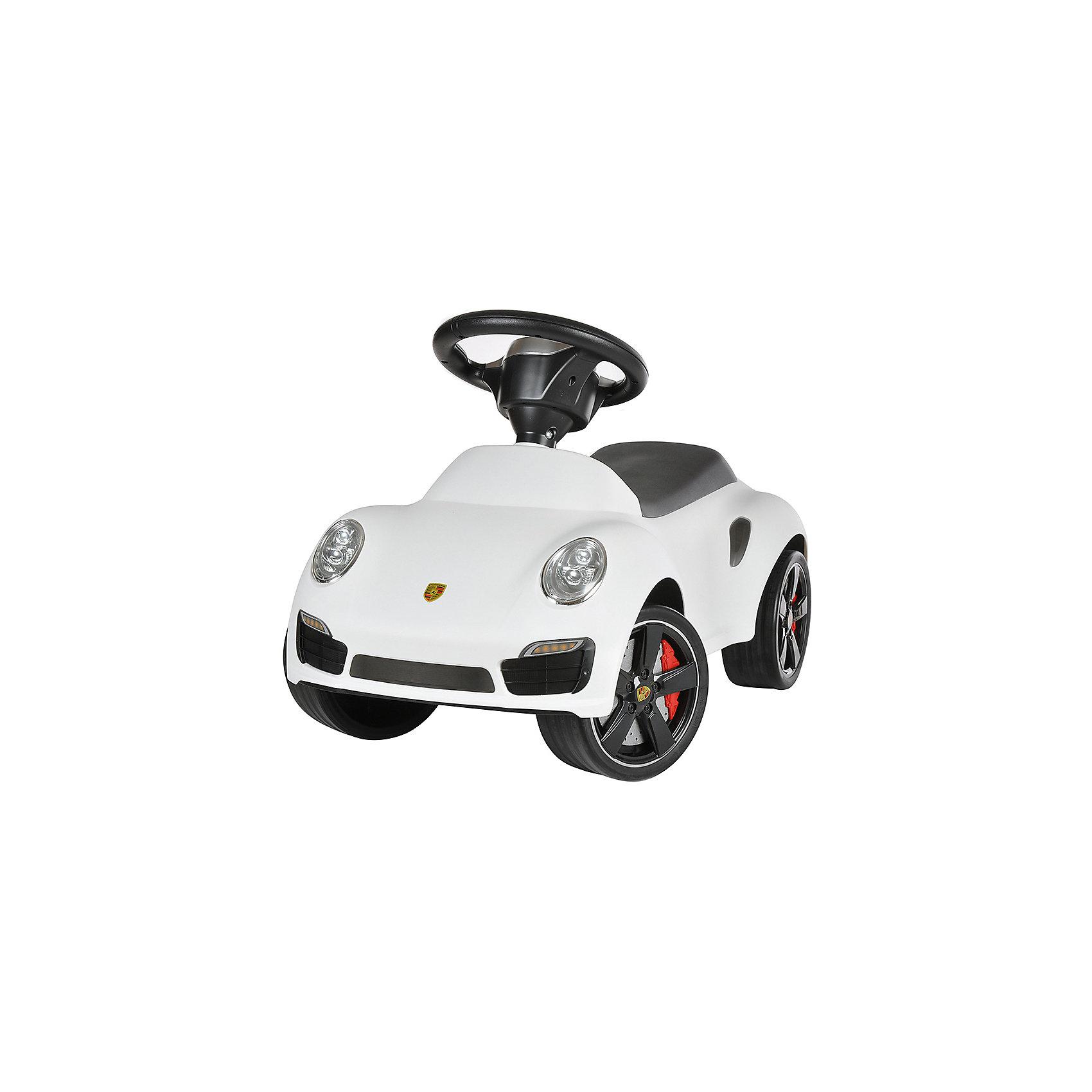 Каталка Porsche 911, белый, RASTARКаталка Porsche 911, белый, RASTAR - осчастливьте своего ребенка безопасной детской машиной.<br>Благодаря тому, что каталка имеет устойчивую конструкцию и колеса с поворотом на 90 градусов, она полностью безопасна для ребенка, даже если он любит быструю езду.  На руле есть кнопка для звукового сигнала. Ход машины очень плавный, может ездить вперед и назад. Есть вместительный багажник для игрушек или вещей, под сиденьем. Машина сделана под марку «Porsche».<br><br>Дополнительная информация:<br><br>- размер: 65 ? 35 ? 30 см<br>- вес: 2,7 кг<br>- возраст: от 1 до 3 лет<br>- максимальный вес: до 30 кг<br>- цвет: белый<br><br>Каталку Porsche 911, белый, RASTAR можно купить в нашем интернет магазине.<br><br>Ширина мм: 650<br>Глубина мм: 350<br>Высота мм: 300<br>Вес г: 3800<br>Возраст от месяцев: 12<br>Возраст до месяцев: 36<br>Пол: Унисекс<br>Возраст: Детский<br>SKU: 4995162