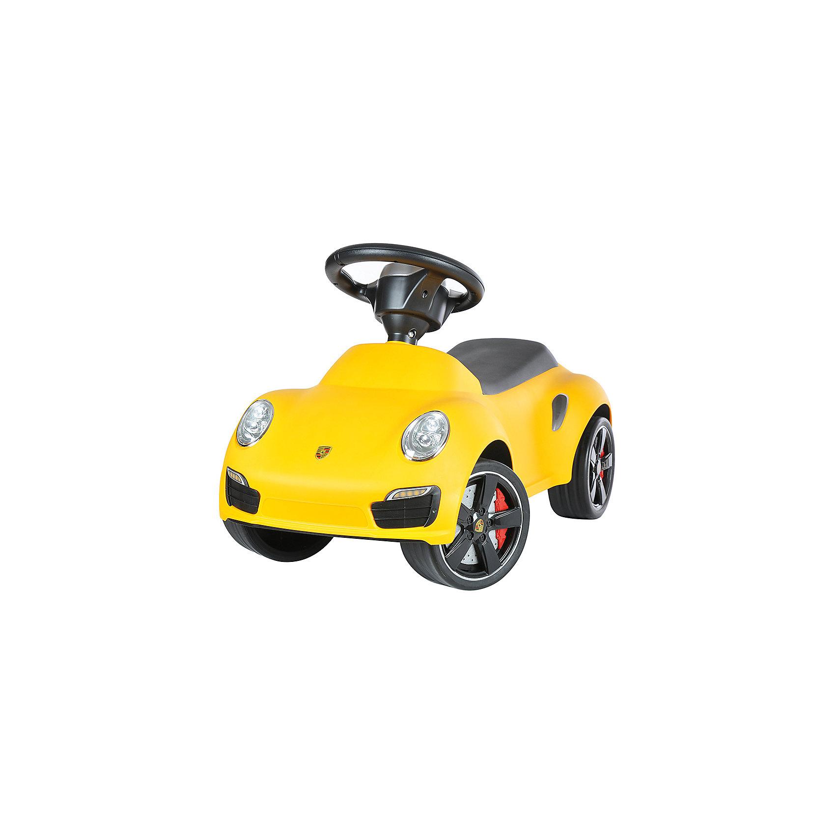 Каталка Porsche 911, желтый, RASTARКаталка Porsche 911, желтый, RASTAR - осчастливьте своего ребенка безопасной детской машиной.<br>Благодаря тому, что каталка имеет устойчивую конструкцию и колеса с поворотом на 90 градусов, она полностью безопасна для ребенка, даже если он любит быструю езду.  На руле есть кнопка для звукового сигнала. Ход машины очень плавный, может ездить вперед и назад. Есть вместительный багажник для игрушек или вещей, под сиденьем. Машина сделана под марку «Porsche».<br><br>Дополнительная информация:<br><br>- размер: 65 ? 35 ? 30 см<br>- вес: 2,7 кг<br>- возраст: от 1 до 3 лет<br>- максимальный вес: до 30 кг<br>- цвет: желтый<br><br>Каталку Porsche 911, желтый, RASTAR можно купить в нашем интернет магазине.<br><br>Ширина мм: 650<br>Глубина мм: 350<br>Высота мм: 300<br>Вес г: 3800<br>Возраст от месяцев: 12<br>Возраст до месяцев: 36<br>Пол: Унисекс<br>Возраст: Детский<br>SKU: 4995163
