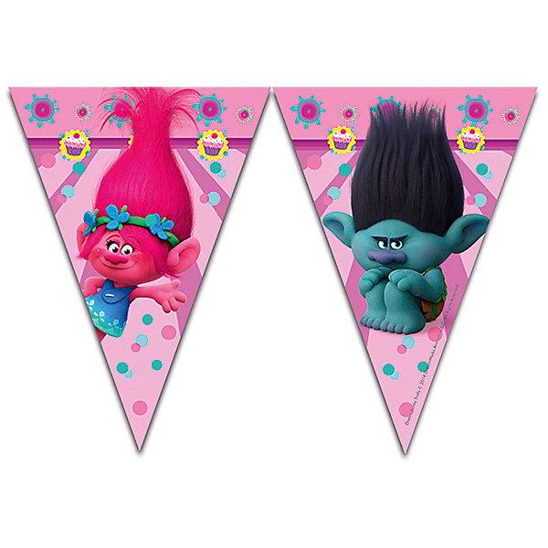 Гирлянда Тролли (9 флажков)Баннеры и гирлянды для детской вечеринки<br>Характеристики:<br><br>• возраст: от 3 лет;<br>• тип игрушки: гирлянда;<br>• вес: 33 гр;<br>• длина: 2,3 м;<br>• размеры: 15х21х0,5 см;<br>• материал: бумага;<br>• бренд: Патибум;<br>• страна производитель: Китай.<br><br>Pc Гирлянда «Тролли» 2,3м – отличное украшение для детского праздника. Вечеринка, день рождения или другое торжество пройдет значительно веселее, если украсить помещение бумажными гирляндами.  Данное изделие выполнено в виде связки из флажков и имеет длину 2,3 метра. Ее удобно вешать и снимать. <br><br>Гирлянда от «Патибум» входит в большую коллекцию одноразовой посуды и аксессуаров для проведения детских праздников. Поэтому можно подготовиться к нему, украсив все в едином стиле. Тарелки, стаканы, салфетки и аксессуары с любимыми героями понравятся всем детям. Изделие выполнено из качественных материалов, предназначенных для детей возрастом от трех лет. <br><br>Pc Гирлянда «Тролли» 2,3м можно купить в нашем интернет-магазине.<br>Ширина мм: 5; Глубина мм: 230; Высота мм: 370; Вес г: 14; Возраст от месяцев: -2147483648; Возраст до месяцев: 2147483647; Пол: Женский; Возраст: Детский; SKU: 4995386;