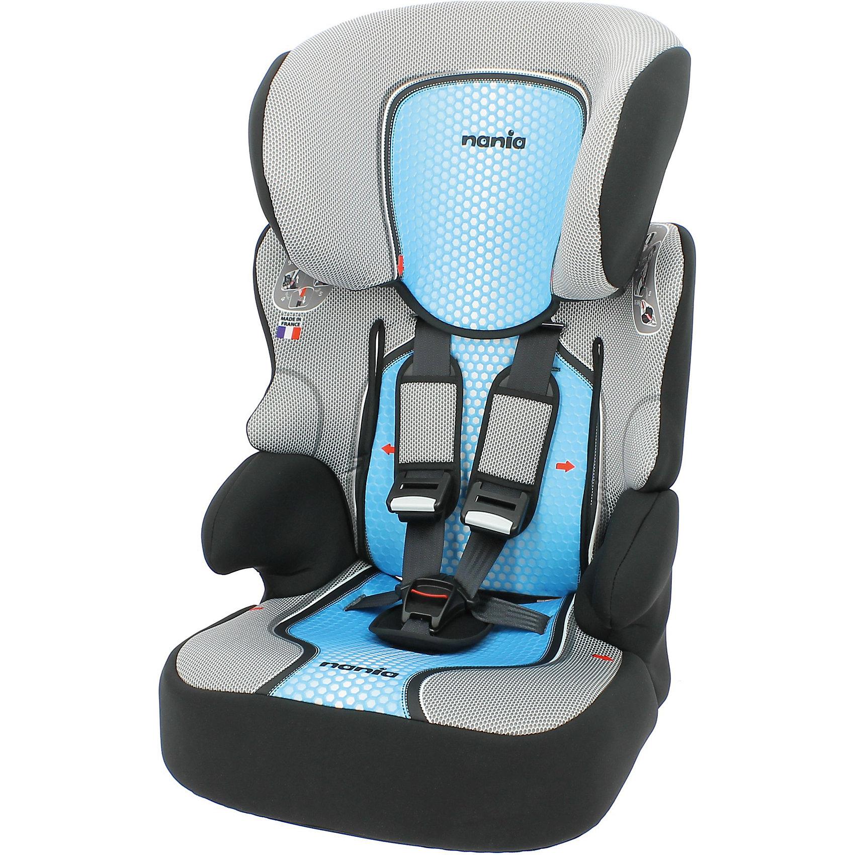 Автокресло Beline SP FST, 9-36 кг., 2016, Nania, синийАвтокресло Beline SP FST от Nania - комфортная надежная модель, которая сделает поездку Вашего ребенка приятной и безопасной. Серия FIRST - это базовая версия с улучшенным дизайном и европейским качеством, гарантирующим безопасность пассажира. Благодаря особой конструкции - фактически это два кресла в одном - автокресло может использоваться в течении длительного времени и охватывает весовые категории детей от 1 года до 12 лет. По мере взросления ребенка, высота подголовника и съемной спинки регулируется (шесть позиций высоты подголовника). Для ребенка весом от 9 до 18 кг. следует использовать фиксирующий зажим ремня безопасности, который прикреплен шнурком к спинке автокресла. Для детей 6-12 лет кресло можно легко превратить в бустер, отсоединив съемную спинку от сиденья. <br><br>Комфортное кресло имеет анатомическую форму с мягкой подкладкой и подлокотниками и обеспечивает удобство сидения во время длительных поездок. Модель оснащена пятиточечными ремнями безопасности с мягкими плечевыми накладками. Сбоку кресла имеется сетчатый карман для детских принадлежностей. Усиленная боковая защита SP - Side Protection убережёт ребёнка от серьезных травм. Автокресло устанавливается на заднее сиденье автомобиля по ходу движения. <br><br>Кресло изготовлено из высококачественных материалов, тканевые чехлы снимаются для чистки или стирки. Рассчитано на детей от 1 года до 12 лет, весом 9-36 кг.<br><br>Дополнительная информация:<br><br>- Материал: полиэстер, пластик.<br>- Размер: 45 х 45 х 72-88 см.<br>- Размеры сиденья: 34 х 30 см.<br>- Высота спинки: 64-75 см.<br>- Вес: 4,7 кг<br><br>Автокресло Beline SP FST Nania можно купить в нашем интернет-магазине.<br><br>Ширина мм: 450<br>Глубина мм: 500<br>Высота мм: 710<br>Вес г: 10520<br>Цвет: синий<br>Возраст от месяцев: 36<br>Возраст до месяцев: 144<br>Пол: Мужской<br>Возраст: Детский<br>SKU: 4996369