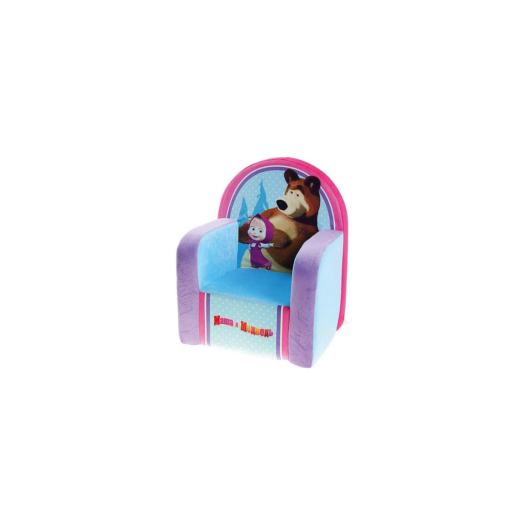 Мягкое кресло Маша и Медведь, СмолТойс, голубойДетям очень важно иметь свои вещи, это касается не только игрушек, но и мебели. Именно поэтому такое кресло станет действительно желанным подарком для малыша. Тем более, что на нем изображены любимые мультяшные герои современных детей - Маша и Медведь.<br>Обивка кресла - очень приятная на ощупь. Наполнитель - мягкий, внутри нет жестких деталей. Кресло легкое, но устойчивое. Детям будет приятно и удобно в нем сидеть или играть. Этот предмет мебели оживит и украсит детскую комнату!<br><br>Дополнительная информация:<br><br>цвет: разноцветный;<br>материал: трикотаж, пенополиуретан;<br>украшено изображением Маши и Медведя;<br>размер: 53 х 32 х 41 см.<br><br>Мягкое кресло Маша и Медведь от можно купить в нашем магазине.<br><br>Ширина мм: 32<br>Глубина мм: 41<br>Высота мм: 53<br>Вес г: 1075<br>Возраст от месяцев: 36<br>Возраст до месяцев: 1188<br>Пол: Унисекс<br>Возраст: Детский<br>SKU: 4996593