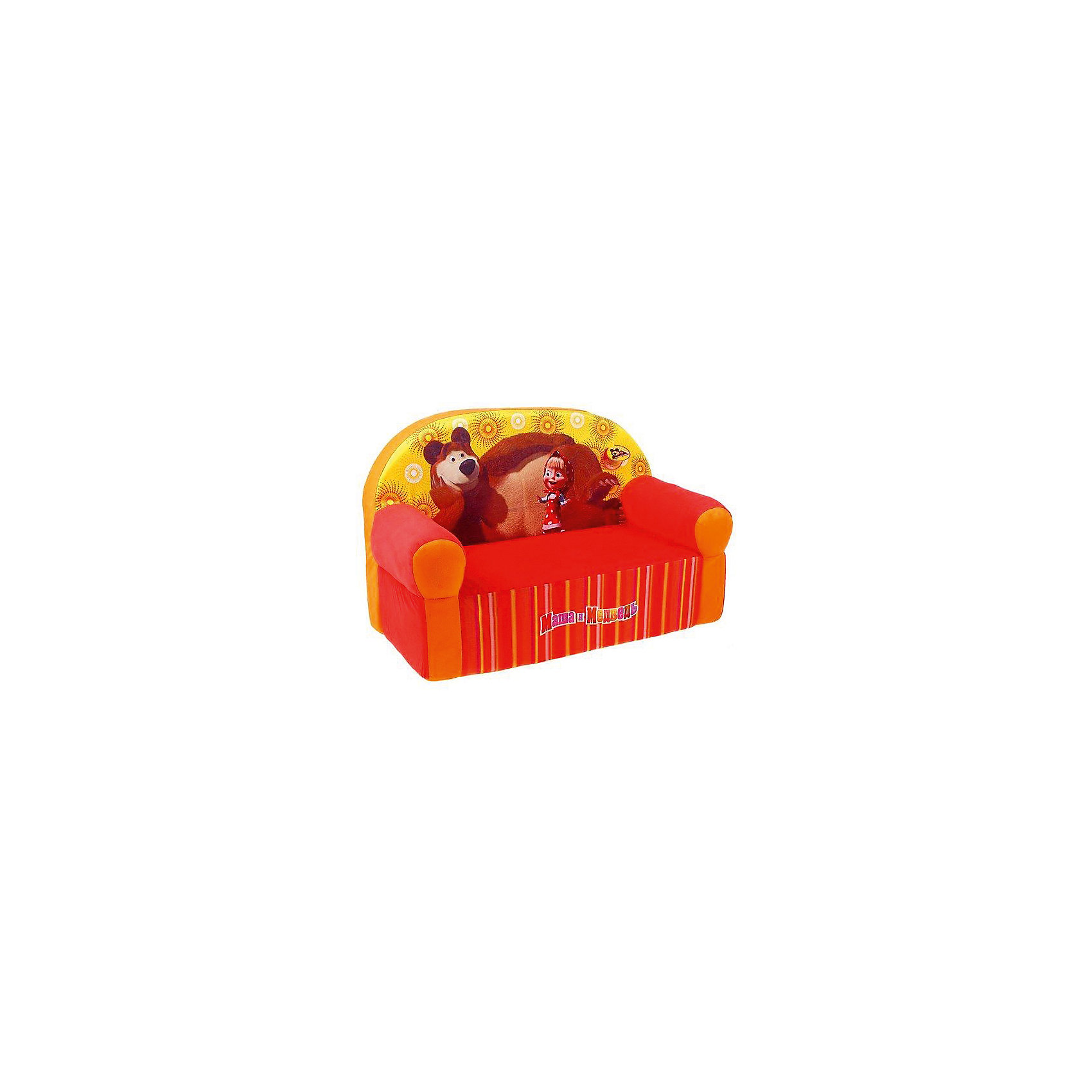 Мягкий диван Маша и Медведь, СмолТойс, оранжевыйМебель<br>Детям очень важно иметь свои вещи, это касается не только игрушек, но и мебели. Именно поэтому такое кресло станет действительно желанным подарком для малыша. Тем более, что на нем изображены любимые мультяшные герои современных детей - Маша и Медведь.<br>Обивка кресла - очень приятная на ощупь. Наполнитель - мягкий, внутри нет жестких деталей. Кресло легкое, но устойчивое. Детям будет приятно и удобно в нем сидеть или играть. Этот предмет мебели оживит и украсит детскую комнату!<br><br>Дополнительная информация:<br><br>цвет: разноцветный;<br>материал: трикотаж, пенополиуретан;<br>украшено изображением Маши и Медведя;<br>размер: 53 х 32 х 41 см.<br><br>Мягкое кресло Маша и Медведь от можно купить в нашем магазине.<br><br>Ширина мм: 35<br>Глубина мм: 70<br>Высота мм: 45<br>Вес г: 1780<br>Возраст от месяцев: 36<br>Возраст до месяцев: 1188<br>Пол: Унисекс<br>Возраст: Детский<br>SKU: 4996594
