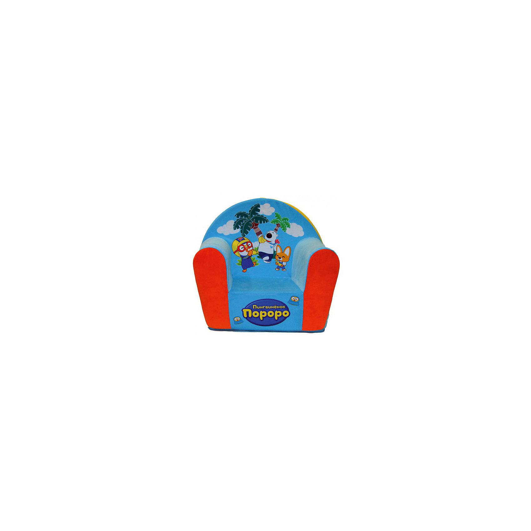 Мягкое кресло с чехлом Пороро в50, СмолТойс, голубойМебель<br>Думаете, чем порадовать ребенка? Подарите это кресло! Детям очень важно иметь свои вещи, это касается не только посуды и игрушек, но и мебели. Именно поэтому такое кресло станет действительно желанным подарком для малыша. Тем более, что на нем есть изображение любимого мультяшного героя современных детей - пингвиненка Пороро.<br>Обивка кресла - мягкая и приятная на ощупь. Внутри предмет заполнен мягким пенополиуретаном! Кресло легкое, но устойчивое. Детям будет интересно и удобно в нем сидеть или играть. Такое яркое и симпатичное кресло оживит и украсит комнату ребенка!<br><br>Дополнительная информация:<br><br>цвет: разноцветный;<br>материал: трикотаж, пенополиуретан, дерево;<br>декорировано изображением Пороро;<br>размер: 500 х 410 х 330 мм.<br><br>Мягкое кресло с чехлом Пороро в50 можно купить в нашем магазине.<br><br>Ширина мм: 34<br>Глубина мм: 53<br>Высота мм: 50<br>Вес г: 1100<br>Возраст от месяцев: 36<br>Возраст до месяцев: 1188<br>Пол: Унисекс<br>Возраст: Детский<br>SKU: 4996602