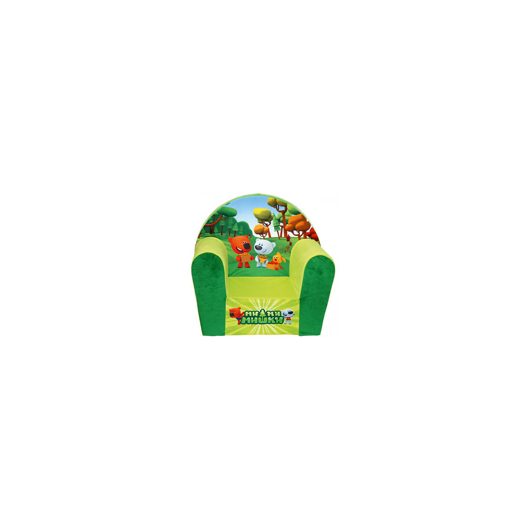 Мягкое кресло Ми-ми-мишки в50, СмолТойс, желтый  тумбочка для кукол своими руками