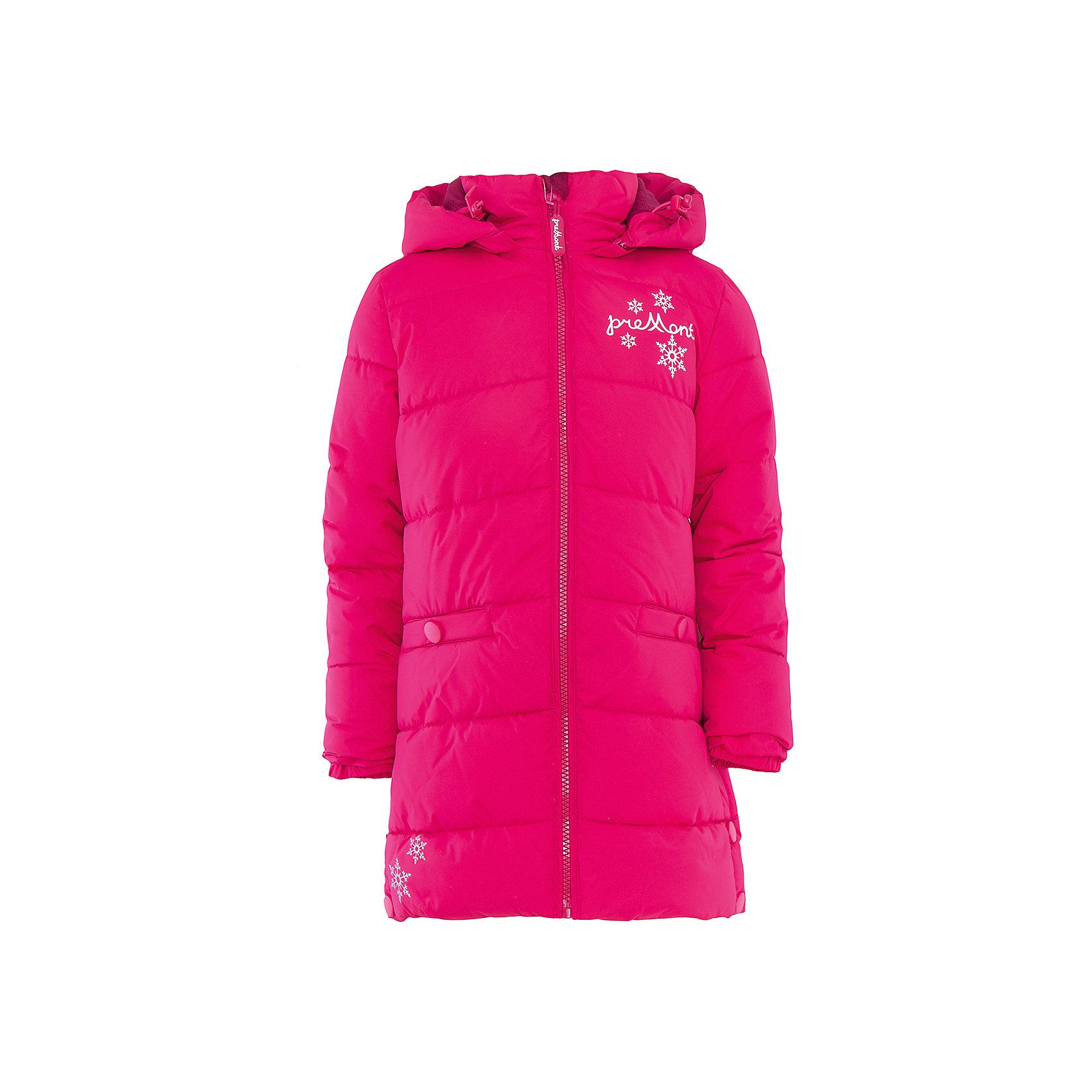 Пальто для девочки PremontПальто для девочки от известного бренда Premont.<br>В некоторых округах Канады клюква является одной из самых популярных ягод. Это связано с холодным климатом страны, ведь клюква самая морозоустойчивая ягода. Также и наше пальто «Морознаяклюква», выполненное в насыщенном сочном клюквенном цвете не даст замерзнуть холодной зимой.<br>Состав:<br>Ткань верха: мембрана 5000мм/5000г/м2/24h <br>Подклад: Polarfleece (тело, капюшон), Taffeta (тело, рукава) <br>Утеплитель: FakeDown (искусственный пух)<br><br>Ширина мм: 356<br>Глубина мм: 10<br>Высота мм: 245<br>Вес г: 519<br>Цвет: розовый<br>Возраст от месяцев: 48<br>Возраст до месяцев: 60<br>Пол: Женский<br>Возраст: Детский<br>Размер: 110,146,140,134,128,122,116<br>SKU: 4996719