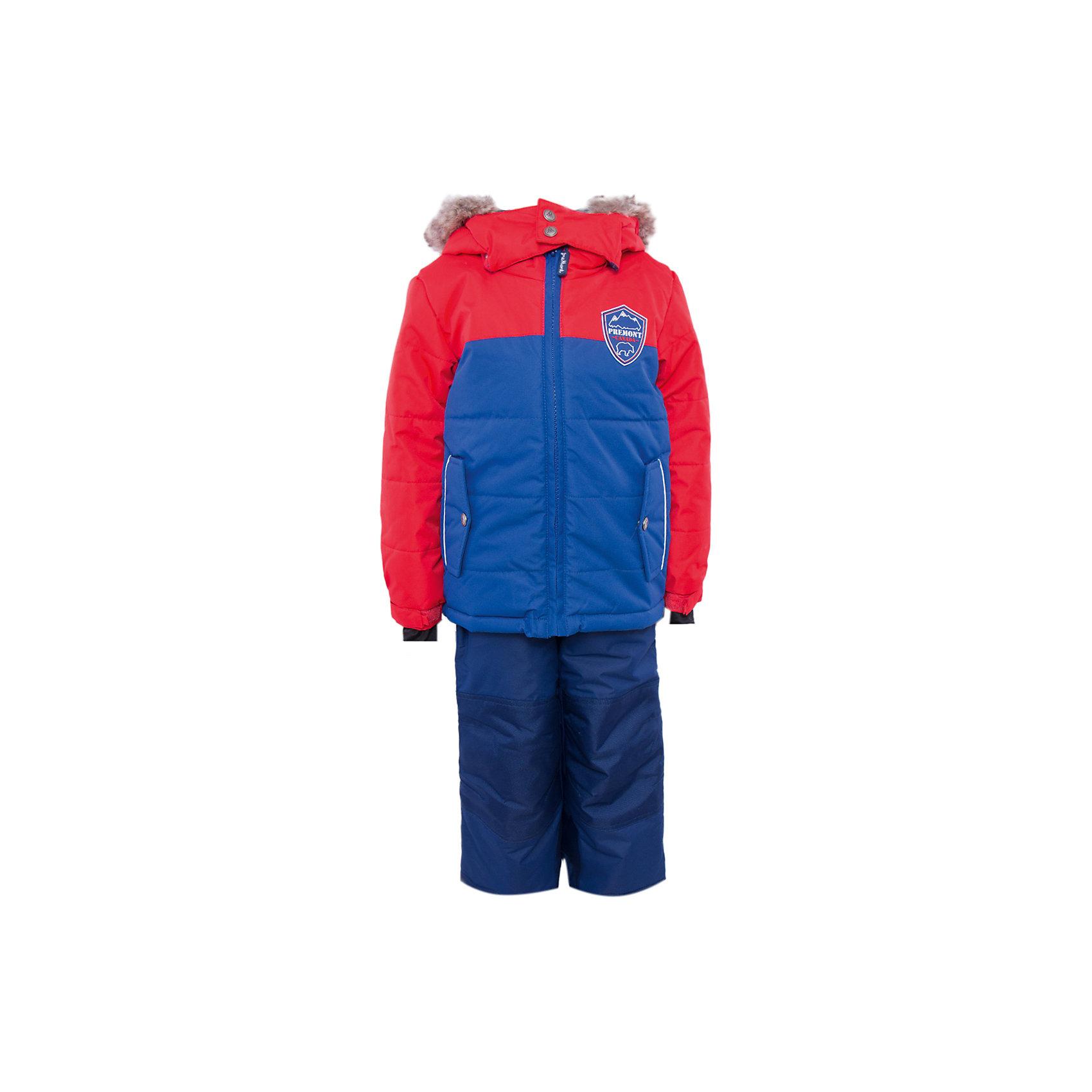 Комплект: куртка и брюки для мальчика PremontКомплект: куртка и брюки для мальчика от известного бренда Premont.<br>Все канадцы с рождения являются ярыми фанатами хоккея и своей национальной сборной. Хоккей во всем мире бесспорно ассоциируется с Канадой. Дизайнеры компании Premont, как истинные патриоты, не смогли обойти этот факт стороной и назвали в честь него данную модель.<br>Брюки до 6 лет идут с высокой грудкой, после 6 лет - с отстегивающейся спинкой.<br>Состав:<br>Ткань верха: мембрана 5000мм/5000г/м2/24h, Taslan<br>Подклад: Polarfleece (тело, капюшон, манжеты), Taffeta (брюки, рукава, снежная юбка) Утеплитель: Tech-polyfill (куртка 280г, брюки 180г)<br><br>Ширина мм: 356<br>Глубина мм: 10<br>Высота мм: 245<br>Вес г: 519<br>Цвет: красный<br>Возраст от месяцев: 18<br>Возраст до месяцев: 24<br>Пол: Мужской<br>Возраст: Детский<br>Размер: 104,110,116,120,122,128,140,152,92,164,98,100<br>SKU: 4996792