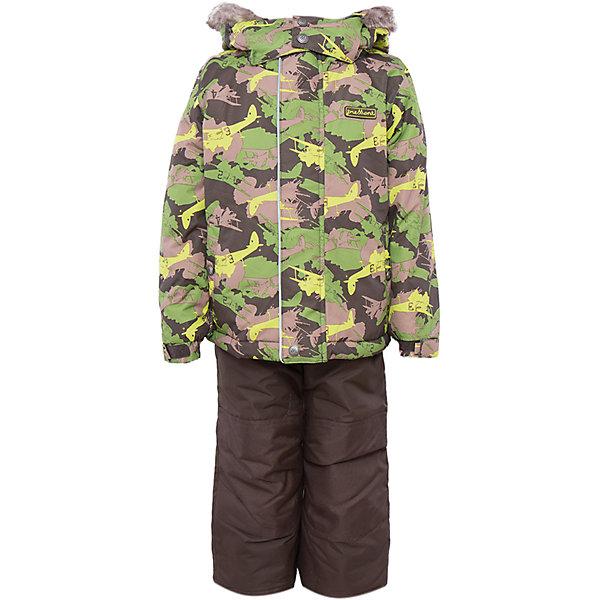 Комплект: куртка и брюки для мальчика PremontВерхняя одежда<br>Комплект: куртка и брюки для мальчика от известного бренда Premont.<br>Все мальчишки любят играть в войну, представлять себя на полях сражения, и дизайнеры компании Premont не могли не учесть этот психологический аспект. Принт «Легенда Гудзона» подойдет для маленьких и отважных героев, которые хотят статьнастоящими защитниками и бойцами.<br>Брюки до 6 лет идут с высокой грудкой, после 6 лет - с отстегивающейся спинкой.<br>Состав:<br>Ткань верха: мембрана 5000мм/5000г/м2/24h, Taslan<br>Подклад: Polarfleece (тело, капюшон, манжеты), Taffeta (брюки, рукава, снежная юбка) Утеплитель: Tech-polyfill (куртка 280г, брюки 180г)<br><br>Ширина мм: 356<br>Глубина мм: 10<br>Высота мм: 245<br>Вес г: 519<br>Цвет: зеленый<br>Возраст от месяцев: 36<br>Возраст до месяцев: 36<br>Пол: Мужской<br>Возраст: Детский<br>Размер: 100,92,140,128,122,120,116,110,104,98<br>SKU: 4996894