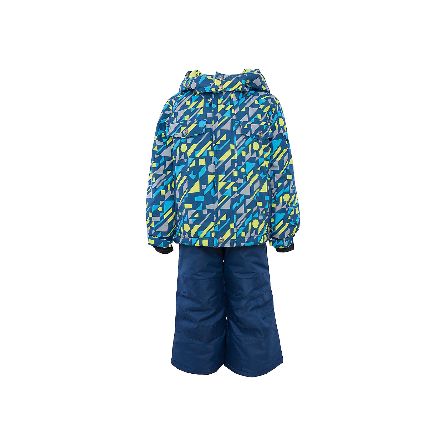 Комплект: куртка и брюки для мальчика PremontВерхняя одежда<br>Комплект: куртка и брюки для мальчика от известного бренда Premont.<br>Как известно, немцы во всем предпочитают четкость и лаконичность, именно эти особенности учтены в принте «Немецкий стиль». Геометрические фигуры и абстрактные рисунки подойдут для серьезных и рассудительных детей, которые любят часами собирать конструктор, пирамидки, играть с кубиками.<br>Брюки до 6 лет идут с высокой грудкой, после 6 лет - с отстегивающейся спинкой.<br>Состав:<br>Ткань верха: мембрана 5000мм/5000г/м2/24h, Taslan<br>Подклад: Polarfleece (тело, капюшон, манжеты), Taffeta (брюки, рукава, снежная юбка) Утеплитель: Tech-polyfill (куртка 280г, брюки 180г)<br><br>Ширина мм: 356<br>Глубина мм: 10<br>Высота мм: 245<br>Вес г: 519<br>Цвет: синий<br>Возраст от месяцев: 84<br>Возраст до месяцев: 96<br>Пол: Мужской<br>Возраст: Детский<br>Размер: 92,98,100,104,110,116,120,122,128<br>SKU: 4996905
