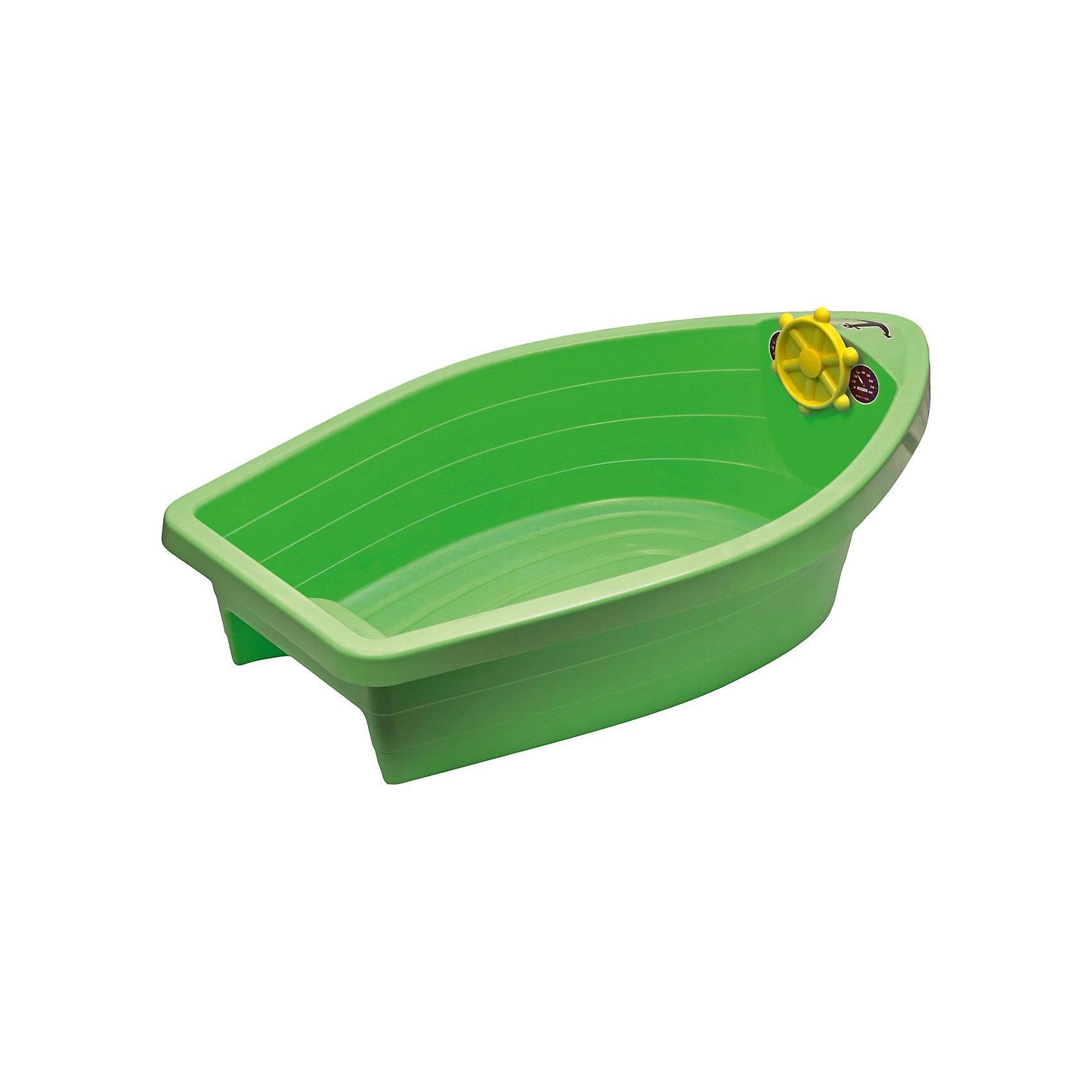 Бассейн - Лодочка, Marian Plast, зеленаяПесочница - бассейн Лодочка, Marian Plast (Мариан Пласт) обязательно понравится Вашему малышу и станет его любимым местом для игр. Малыши очень любят игры в песке, куличики, а также игры с водой. Песочница Лодочка совмещает в себе эти две игровые возможности, ее можно использовать и как песочницу и как минибассейн. Песочница-басейн выполнена в виде яркой лодочки, внутри имеется сиденье куда можно присесть и штурвал. Благодаря своим компактным размерам она хорошо разместится на дачном участке и не займет много места. Игрушка изготовлена из прочного пластика, округлой формы без острых углов. В комплект также входят набор наклеек для украшения лодочки.<br><br>Дополнительная информация:<br><br>- В комплекте: песочница-бассейн, наклейки. <br>- Материал: высокопрочный пластик.<br>- Размер: 129 х 73 х 39 см.<br>- Вес: 3,8 кг.<br><br>Бассейн - Лодочку, Marian Plast (Мариан Пласт) можно купить в нашем интернет-магазине.<br><br>Ширина мм: 129<br>Глубина мм: 73<br>Высота мм: 39<br>Вес г: 3800<br>Возраст от месяцев: 24<br>Возраст до месяцев: 72<br>Пол: Унисекс<br>Возраст: Детский<br>SKU: 4998395