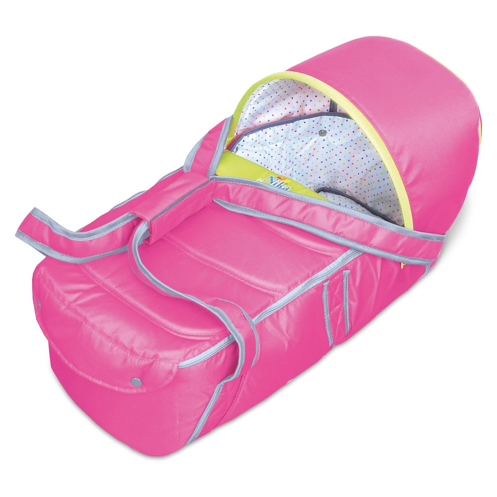 Люлька-переноска Л1, Ника, розовыйЛюлька-переноска Л1, Ника, розовый – удобство и комфорт для вашего малыша.<br>Люлька имеет жесткое дно для правильного формирования позвоночника ребенка. В ней очень комфортно спать. Дополнительно идет капюшон, который можно пристегнуть в холодную ветреную погоду для защиты от осадков. Удобные ручки для переноса. Открывается люлька с помощью молнии. Подходит для вкладыша в санки-коляски.<br><br>Дополнительная информация:<br><br>- размер: 80 х 40 х 30 см.<br>- вес: 7,6 кг.<br>- цвет: розовый<br><br>Люльку-переноску Л1, Ника, розовый можно купить в нашем интернет магазине.<br><br>Ширина мм: 670<br>Глубина мм: 300<br>Высота мм: 300<br>Вес г: 1400<br>Возраст от месяцев: 0<br>Возраст до месяцев: 6<br>Пол: Женский<br>Возраст: Детский<br>SKU: 4998932