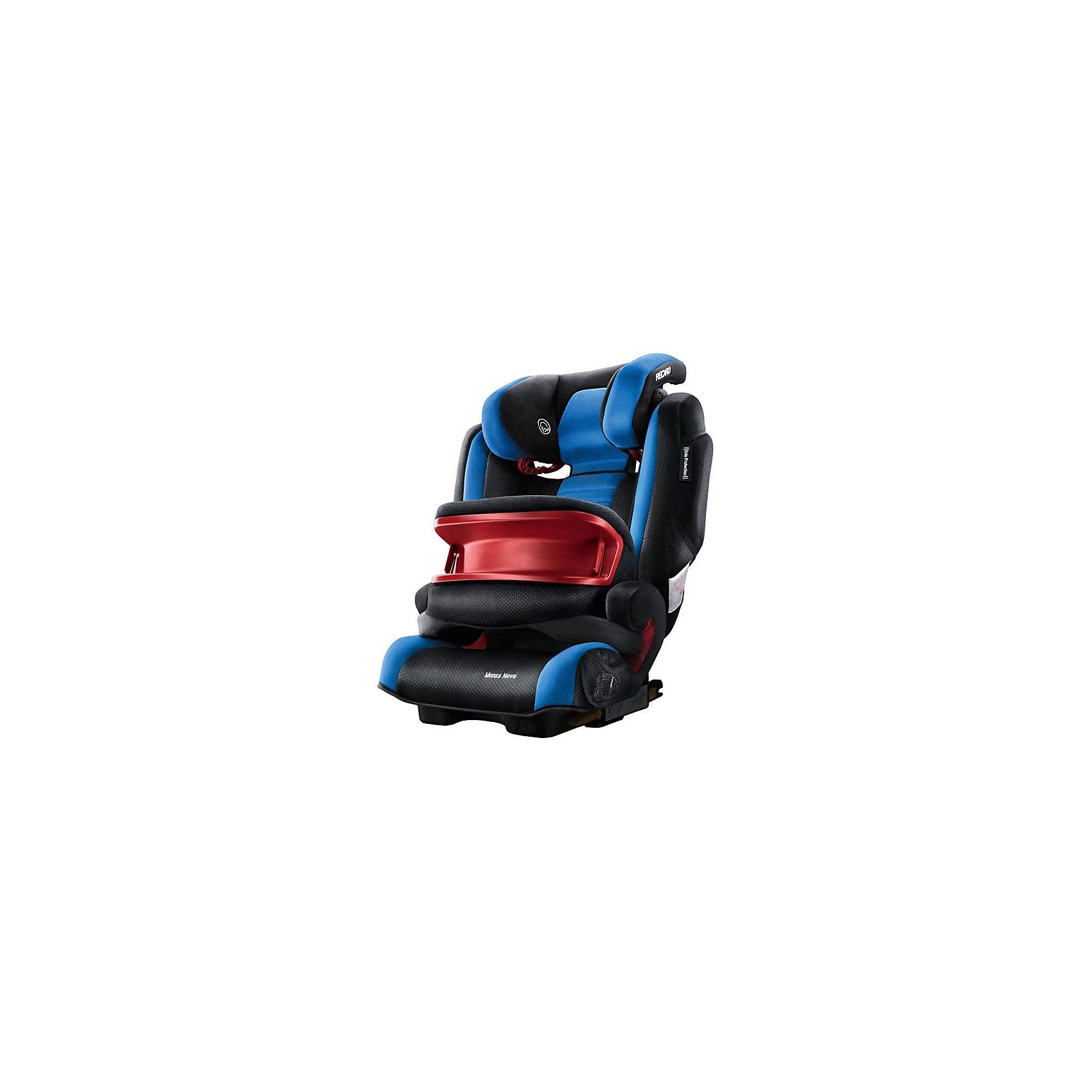 Автокресло RECARO Monza Nova IS SF, 9-36 кг, saphirАвтокресла с креплением Isofix<br>Автокресло Recaro Monza Nova IS SF:<br><br>Характеристики:<br><br>• группа: 1-2-3;<br>• вес ребенка: 9-36 кг;<br>• возраст ребенка: от 9 месяцев до 12 лет;<br>• способ установки: по ходу движения;<br>• способ крепления: система Isofix;<br>• материал: пластик, полиэстер;<br>• размер автокресла: 74х48х62 см;<br>• вес автокресла: 6,5 кг;<br>• вес в упаковке: 8 кг.<br><br>Особенности автокресла Monza Nova IS SF: <br><br>• регулируемая глубина подголовника, <br>• регулируемая высота подголовника – 11 положений, <br>• встроенный ростомер, <br>• 3-х камерная подкачка подголовника;<br>• усиленная боковая защита, <br>• интегрированные динамики: воспроизведения колыбельных, звуков природы, аудиосказок,<br>• провод для подключения плеера к динамикам в комплекте,<br>• сетчатые кармашки для MP3-плеера.<br><br>Автокресло Monza Nova IS SF будет сопровождать вас и вашего кроху вплоть до достижения ребенком возраста 12 лет. Автокресло укомплектовано дополнительными аксессуарами для наибольшей безопасности ребенка на каждом этапе его взросления. <br><br>Когда вес малыша находится в пределах 9-18 кг, эргономичный защитный столик вместе с 3-х точечным ремнем безопасности автомобиля обеспечивают максимальную безопасность. Автокресло обязательно используется со столиком, пока кроха не достигнет определенного роста и веса. <br><br>Автокресло устанавливается на заднем сидении автомобиля с помощью системы Изофикс. Выдвижные крепления кресла совмещаются с системой Изофикс в автомобиле.<br><br>Обивка автокресла выполнена из дышащего материала, который не впитывает посторонние запахи. Автокресло оснащено вентиляционными отверстиями для циркуляции воздуха и регуляции теплообмена. <br><br>Комплектация: <br><br>• автокресло Monza Nova IS SF группы I/II/III;<br>• защитный столик;<br>• накладка на сиденье;<br>• стерео динамики, встроенные в подголовник;<br>• провод для подключения воспроизводящего устройства к дина