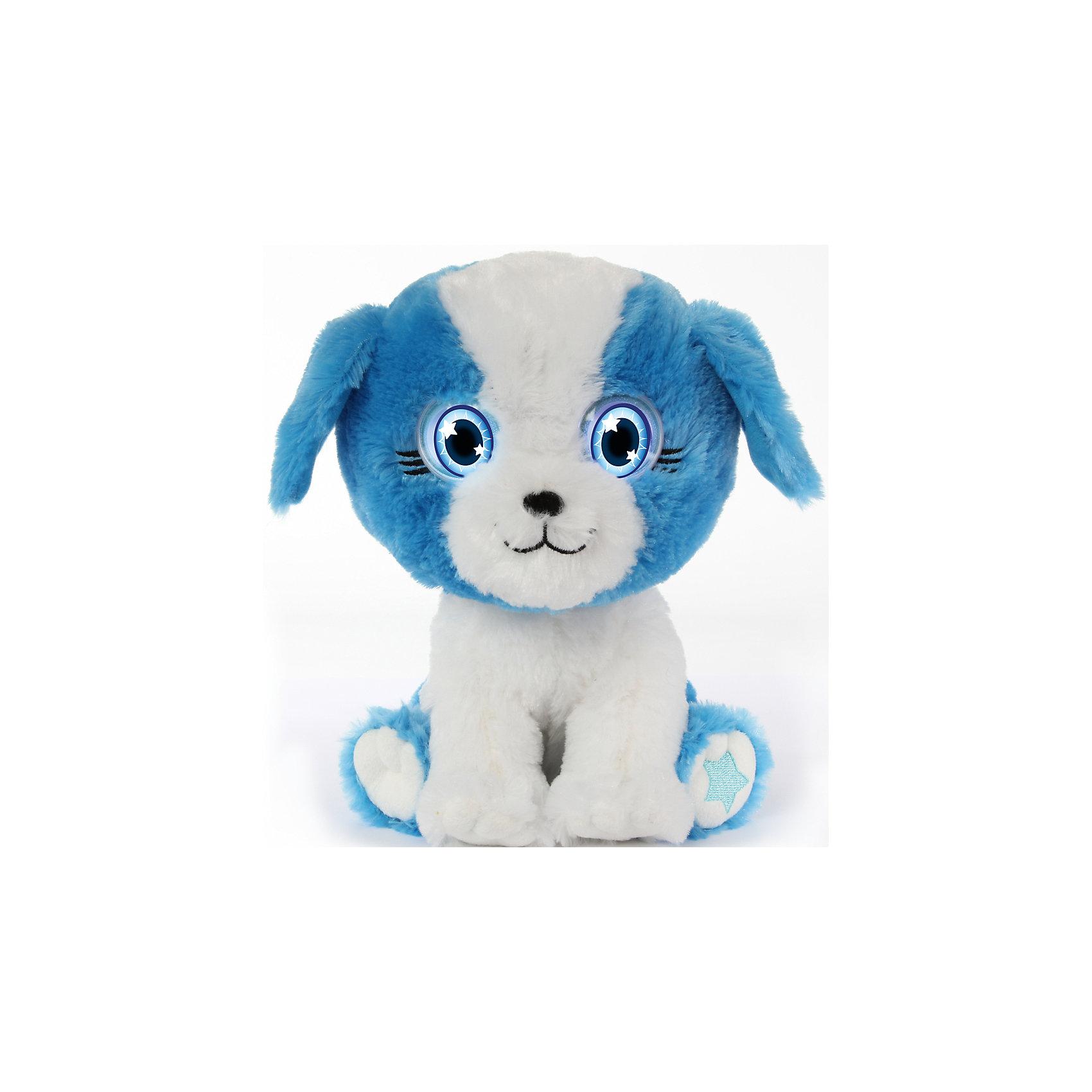 Интерактивный Щенок, Bright EyesИнтерактивные мягкие игрушки<br>Интерактивная плюшевая игрушка Bright Eyes – это невероятно милый плюшевый щенок, который реагирует на Ваши прикосновения, отзывается на поглаживания, «засыпает». Функция Try Me (3 батарейки ААА в комплекте). Погладьте питомца по голове и он проснется – глаза засветятся, он издаст звук.<br>Периодически питомец моргает, напоминая о себе и предлагая поиграть.<br>Погладьте питомца по спине и он начнет засыпать.<br>У питомцев есть  функция отключения звука – используйте игрушку в качестве ночника.<br><br>Ширина мм: 195<br>Глубина мм: 280<br>Высота мм: 205<br>Вес г: 750<br>Возраст от месяцев: 36<br>Возраст до месяцев: 144<br>Пол: Унисекс<br>Возраст: Детский<br>SKU: 5001036