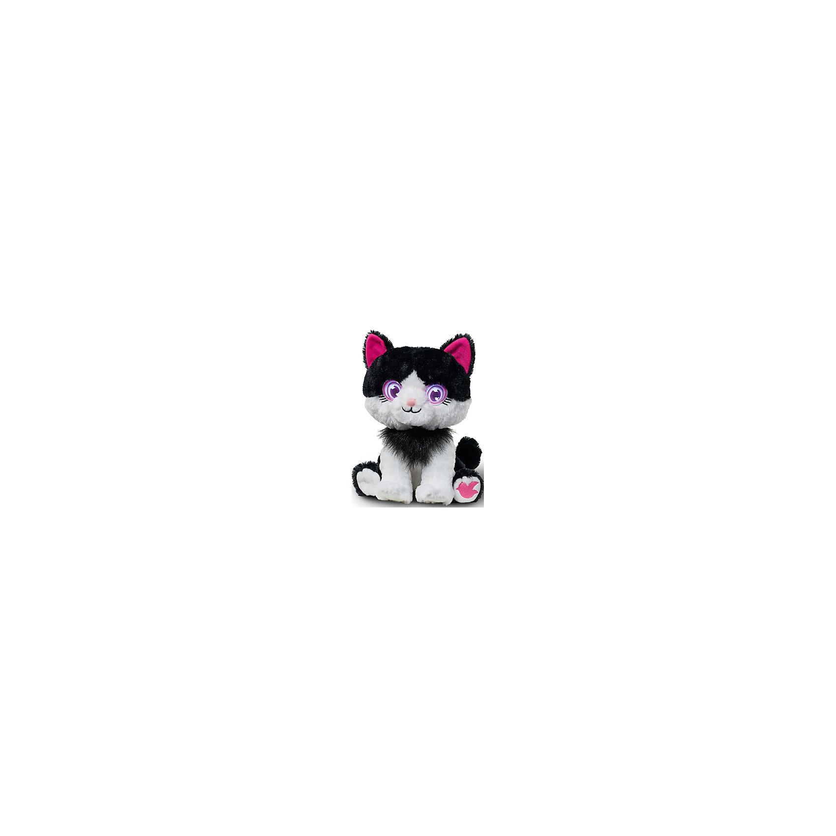 Интерактивная Кошка, Bright EyesИнтерактивная плюшевая игрушка Bright Eyes – это невероятно милая плюшевая кошка, которая реагирует на Ваши прикосновения, отзывается на поглаживания, «засыпает». Функция Try Me (3 батарейки ААА в комплекте).  Погладьте питомца по голове и он проснется – глаза засветятся, он издаст звук.<br>Периодически питомец моргает, напоминая о себе и предлагая поиграть.<br>Погладьте питомца по спине и он начнет засыпать.<br>У питомцев есть  функция отключения звука – используйте игрушку в качестве ночника.<br><br>Ширина мм: 195<br>Глубина мм: 280<br>Высота мм: 205<br>Вес г: 750<br>Возраст от месяцев: 36<br>Возраст до месяцев: 144<br>Пол: Унисекс<br>Возраст: Детский<br>SKU: 5001038