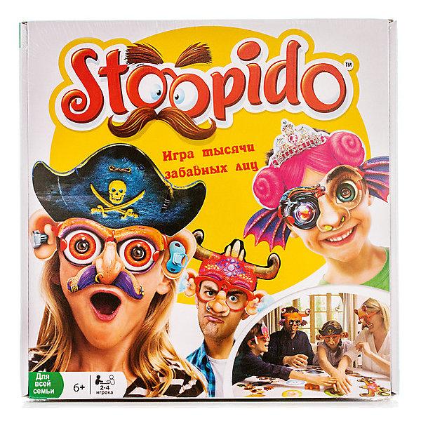 Настольная игра Stoopido, OobaХиты продаж<br>Stoopido - это забавная игра, с которой можно весело провести время в компании друзей или всей семьей. Сама по себе игра не несет смысловой нагрузки, она создана для того, чтобы просто повеселиться и подурачиться. Суть игры заключается в том, что игроки надевают специальные очки, затем бросают кубик, чтобы выпала одна из категорий - уши, нос и т. д. Затем необходимо как можно быстрее дотронуться до игрового поля с этой категорией. Тот, кто успел сделать это первым, надевает на сидящего рядом один из забавных элементов. А побеждает тот, кто к концу игры будет украшен меньше остальных!<br>Ширина мм: 55; Глубина мм: 260; Высота мм: 265; Вес г: 500; Возраст от месяцев: 72; Возраст до месяцев: 192; Пол: Унисекс; Возраст: Детский; SKU: 5001040;