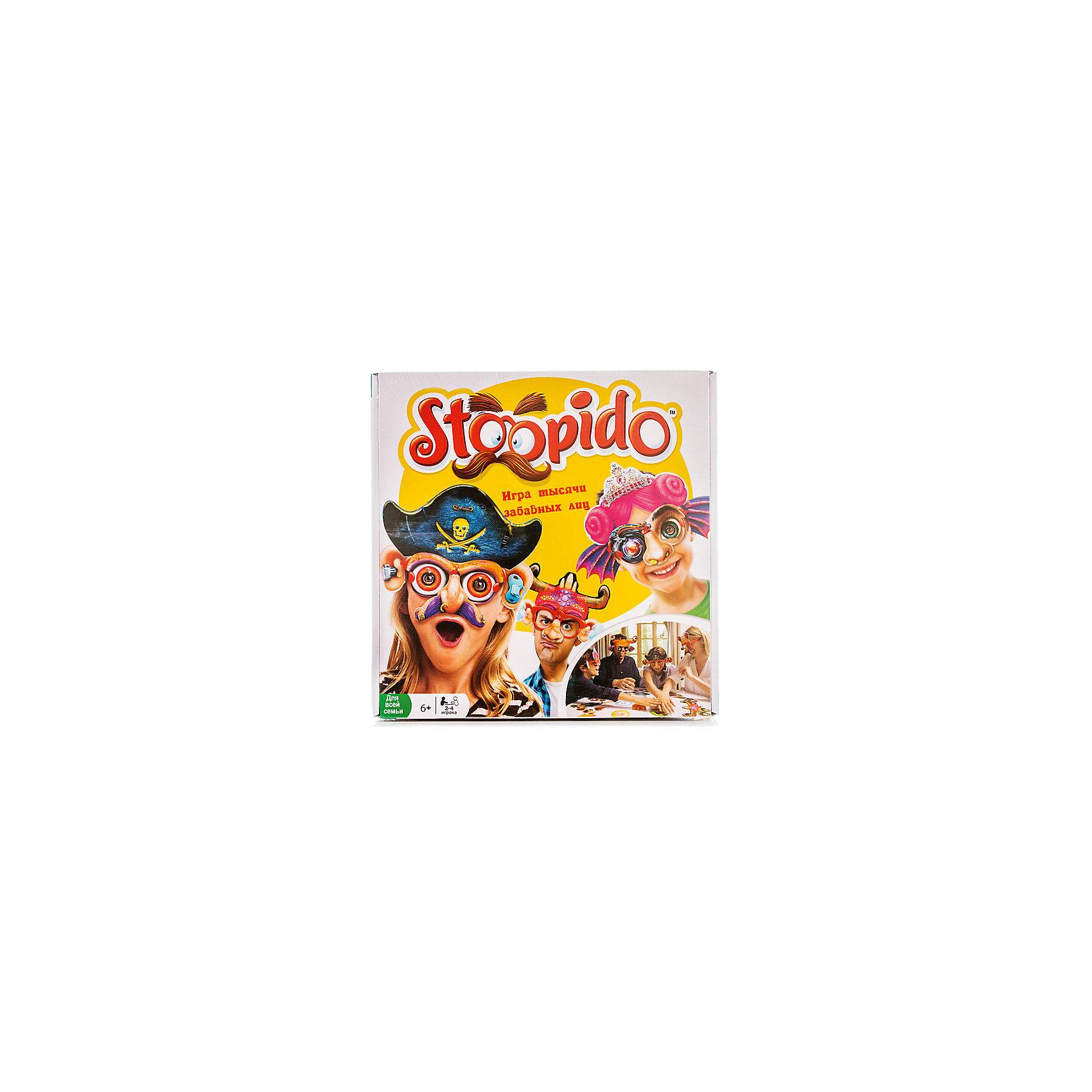 Настольная игра Stoopido, OobaНастольные игры<br>Stoopido - это забавная игра, с которой можно весело провести время в компании друзей или всей семьей. Сама по себе игра не несет смысловой нагрузки, она создана для того, чтобы просто повеселиться и подурачиться. Суть игры заключается в том, что игроки надевают специальные очки, затем бросают кубик, чтобы выпала одна из категорий - уши, нос и т. д. Затем необходимо как можно быстрее дотронуться до игрового поля с этой категорией. Тот, кто успел сделать это первым, надевает на сидящего рядом один из забавных элементов. А побеждает тот, кто к концу игры будет украшен меньше остальных!<br><br>Ширина мм: 55<br>Глубина мм: 260<br>Высота мм: 265<br>Вес г: 500<br>Возраст от месяцев: 72<br>Возраст до месяцев: 192<br>Пол: Унисекс<br>Возраст: Детский<br>SKU: 5001040
