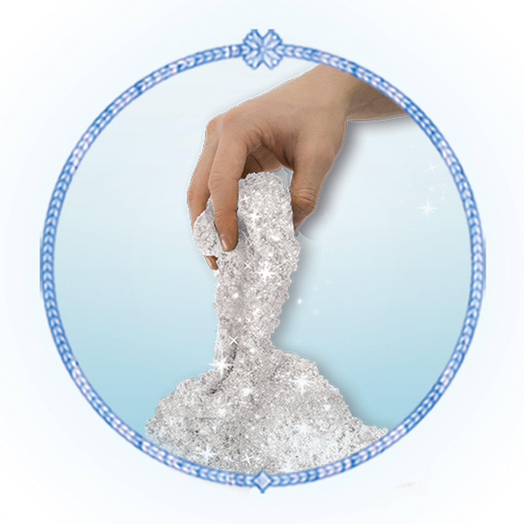Песок для лепки Холодное Сердце,  454 гр., с 2 формочками, Kinetic SandКинетический песок<br>Кинетический песок - это уникальный материал, специально созданный для детского творчества. Теперь не нужно выходить из дома, чтобы построить замки и куличики! В составе Kinetic Sand - чистейший кварцевый песок (98%) и связующий элемент, нетоксичный и совершенно безопасный для здоровья ребенка. Песок не пачкает руки, не высыхает, игра с ним очень увлекательна и способна развить творческие навыки малыша и мелкую моторику. В комплект включены кинетический песок (434 грамма) и 2 формочки, с помощью которых можно слепить одного из самых забавный персонажей анимационного фильма Холодное сердце (Frozen) - очаровательного Олафа, а также маленького улыбчивого снеговичка. Песок предназначен для детей от 3 лет.<br><br>Ширина мм: 180<br>Глубина мм: 215<br>Высота мм: 45<br>Вес г: 580<br>Возраст от месяцев: 36<br>Возраст до месяцев: 120<br>Пол: Женский<br>Возраст: Детский<br>SKU: 5001041