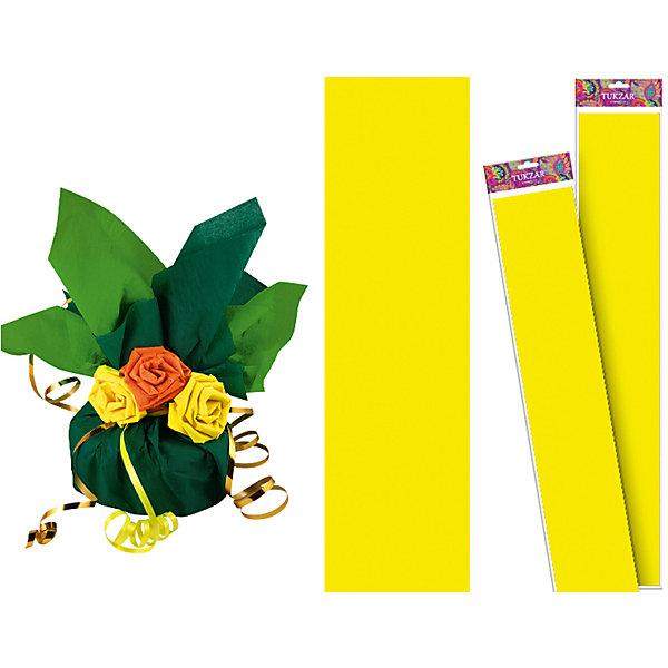Желтая крепированная бумага 50*250 смПоследняя цена<br>Желтая крепированная бумага 50*250 см от известного торгового бренда канцелярских товаров и товаров для творчества TUKZAR. Крепированная бумага используется для изготовления различных поделок и аппликаций, наиболее часто данный вид бумаги применяют для изготовления цветов, которые отличаются высокой степенью достоверности, что обеспечивается за счет свойств данной бумаги: она имеет мелкое гофрирование, бархатистая на ощупь и влагостойкая. <br>Желтая крепированная бумага 50*250 см от TUKZAR – идеально подходит для поделок и оформительских работ.  <br><br>Дополнительная информация:<br><br>- Предназначение: для творческих занятий и оформительских работ <br>- Материал: бумага<br>- Размеры (Ш*Д): 50*250 см<br>- Цвет: желтый<br>- Упаковка: блистер<br><br>Подробнее:<br><br>• Для детей в возрасте: от 3 лет <br>• Страна производитель: Китай<br>• Торговый бренд: TUKZAR<br><br>Желтую крепированную бумагу 50*250 см можно купить в нашем интернет-магазине.<br><br>Ширина мм: 500<br>Глубина мм: 50<br>Высота мм: 50<br>Вес г: 100<br>Возраст от месяцев: 36<br>Возраст до месяцев: 192<br>Пол: Унисекс<br>Возраст: Детский<br>SKU: 5001379