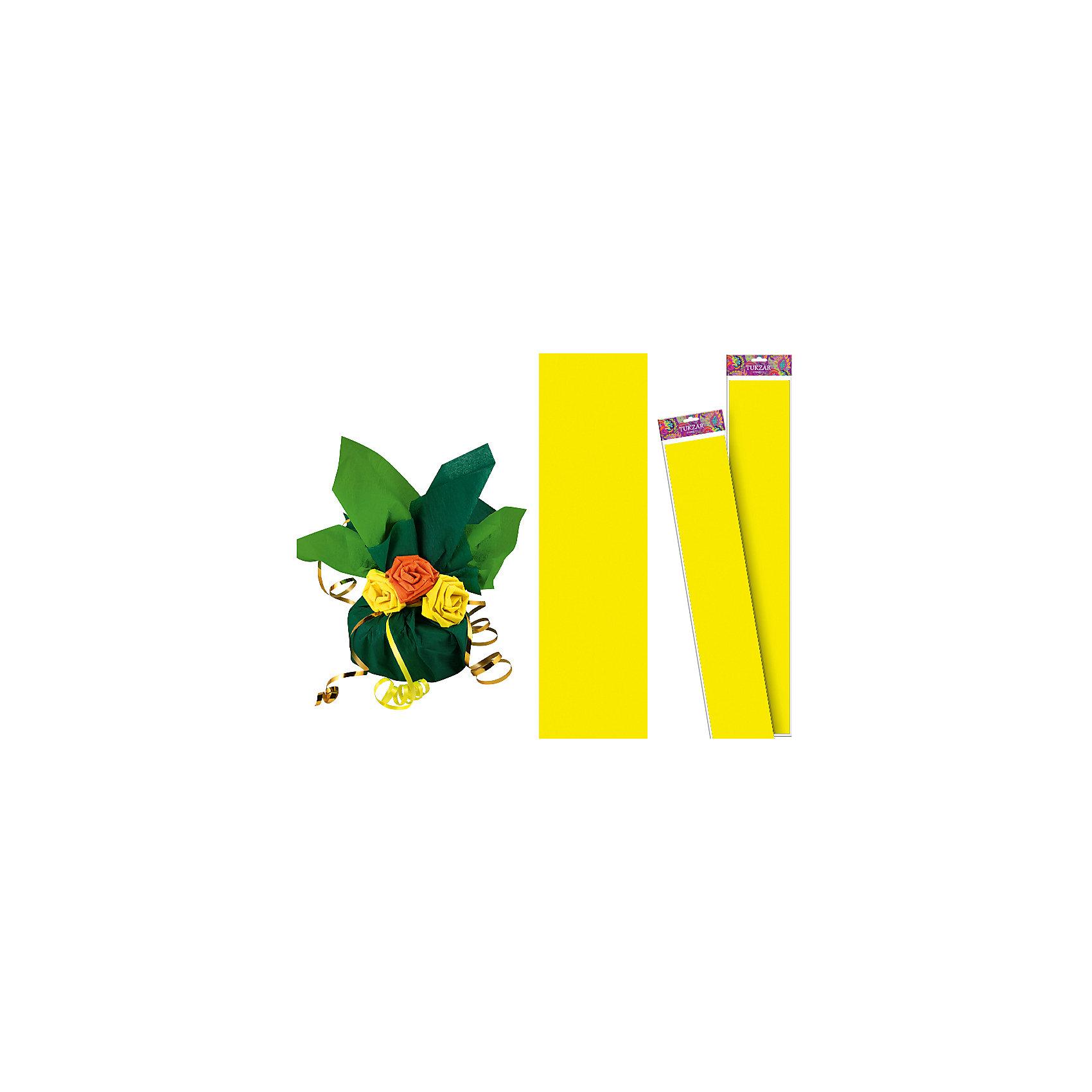 Желтая крепированная бумага 50*250 см