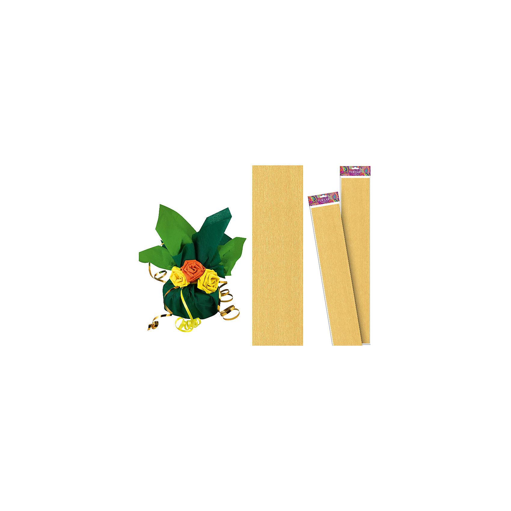 Золотая крепированная бумага 50*250 смПоследняя цена<br>Золотая крепированная бумага 50*250 см от известного торгового бренда канцелярских товаров и товаров для творчества TUKZAR. Крепированная бумага используется для изготовления различных поделок и аппликаций, наиболее часто данный вид бумаги применяют для изготовления цветов, которые отличаются высокой степенью достоверности, что обеспечивается за счет свойств данной бумаги: она имеет мелкое гофрирование, бархатистая на ощупь и влагостойкая. <br>Золотая крепированная бумага 50*250 см от TUKZAR – идеально подходит для поделок и оформительских работ.  <br><br>Дополнительная информация:<br><br>- Предназначение: для творческих занятий и оформительских работ <br>- Материал: бумага<br>- Размеры (Ш*Д): 50*250 см<br>- Цвет: золотой<br>- Упаковка: блистер<br><br>Подробнее:<br><br>• Для детей в возрасте: от 3 лет <br>• Страна производитель: Китай<br>• Торговый бренд: TUKZAR<br><br>Золотую крепированную бумагу 50*250 см можно купить в нашем интернет-магазине.<br><br>Ширина мм: 500<br>Глубина мм: 50<br>Высота мм: 50<br>Вес г: 100<br>Возраст от месяцев: 36<br>Возраст до месяцев: 192<br>Пол: Унисекс<br>Возраст: Детский<br>SKU: 5001383