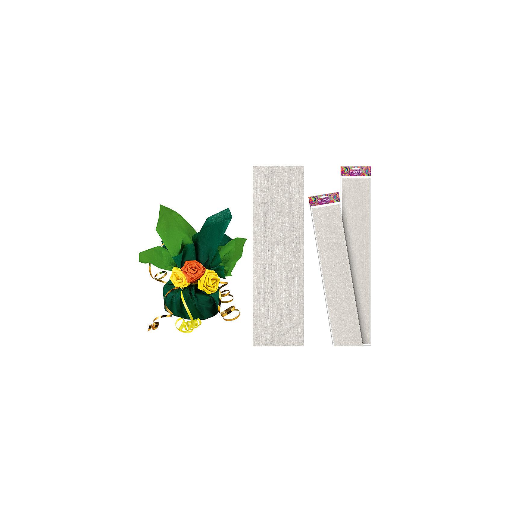 Серебряная крепированная бумага 50*250 смСеребряная крепированная бумага 50*250 см от известного торгового бренда канцелярских товаров и товаров для творчества TUKZAR. Крепированная бумага используется для изготовления различных поделок и аппликаций, наиболее часто данный вид бумаги применяют для изготовления цветов, которые отличаются высокой степенью достоверности, что обеспечивается за счет свойств данной бумаги: она имеет мелкое гофрирование, бархатистая на ощупь и влагостойкая. <br>Серебряная крепированная бумага 50*250 см от TUKZAR – идеально подходит для поделок и оформительских работ.  <br><br>Дополнительная информация:<br><br>- Предназначение: для творческих занятий и оформительских работ <br>- Материал: бумага<br>- Размеры (Ш*Д): 50*250 см<br>- Цвет: серебряный<br>- Упаковка: блистер<br><br>Подробнее:<br><br>• Для детей в возрасте: от 3 лет <br>• Страна производитель: Китай<br>• Торговый бренд: TUKZAR<br><br>Серебряную крепированную бумагу 50*250 см можно купить в нашем интернет-магазине.<br><br>Ширина мм: 500<br>Глубина мм: 50<br>Высота мм: 50<br>Вес г: 100<br>Возраст от месяцев: 36<br>Возраст до месяцев: 192<br>Пол: Унисекс<br>Возраст: Детский<br>SKU: 5001384
